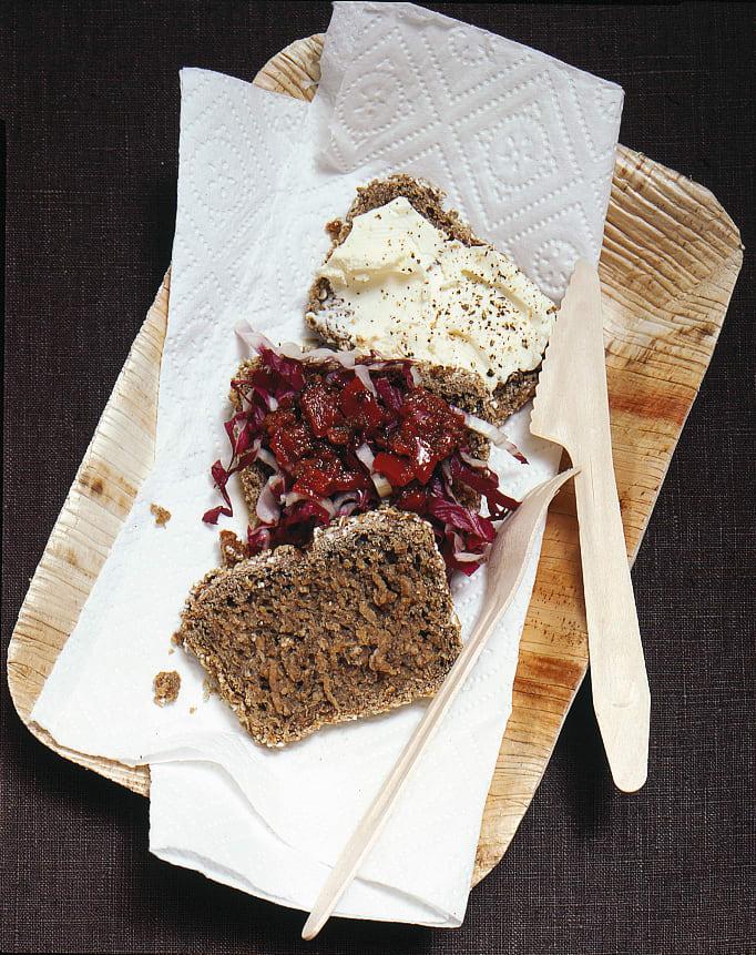 Frischkäse-rosso-Sandwich