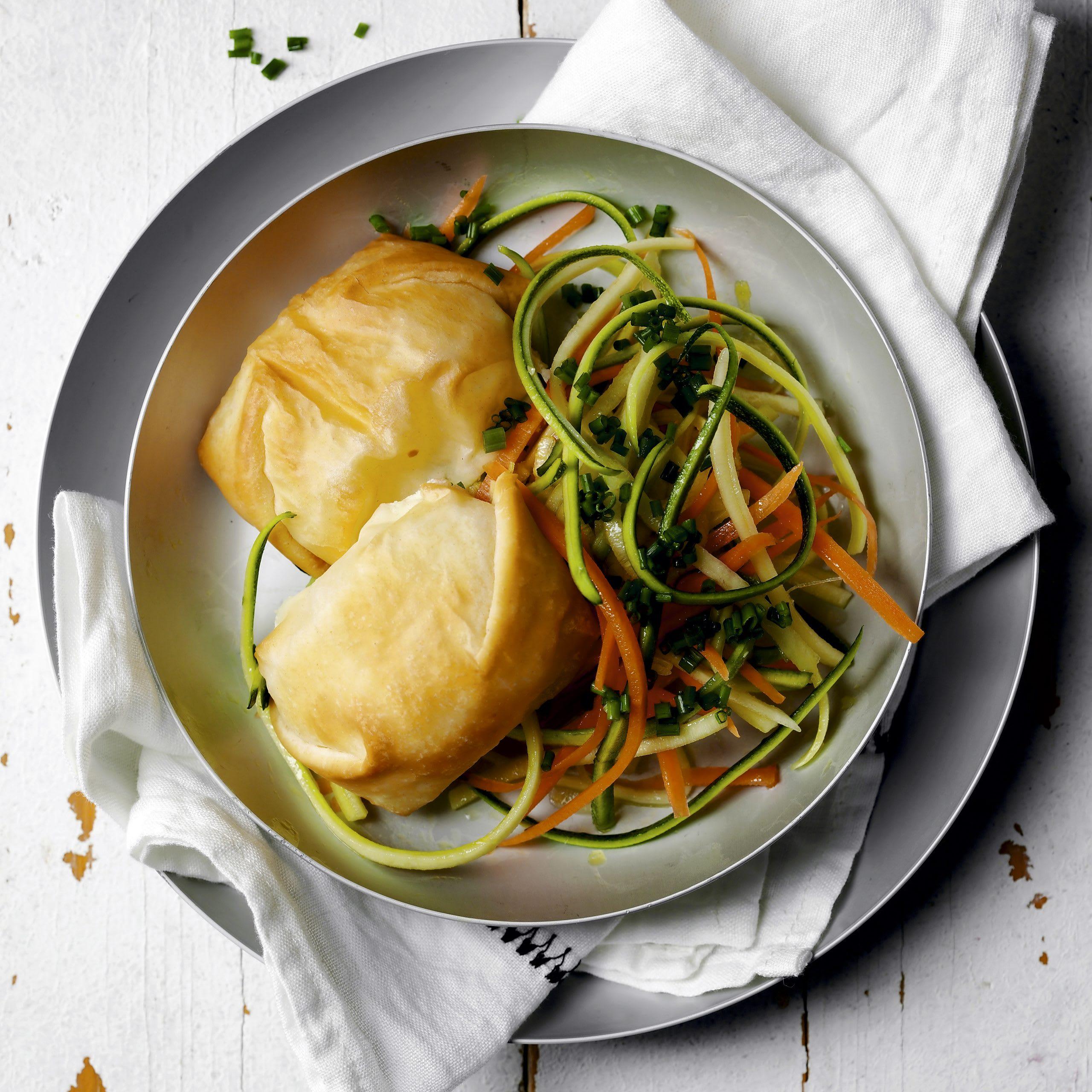 Frischkäsepäckli mit Salat