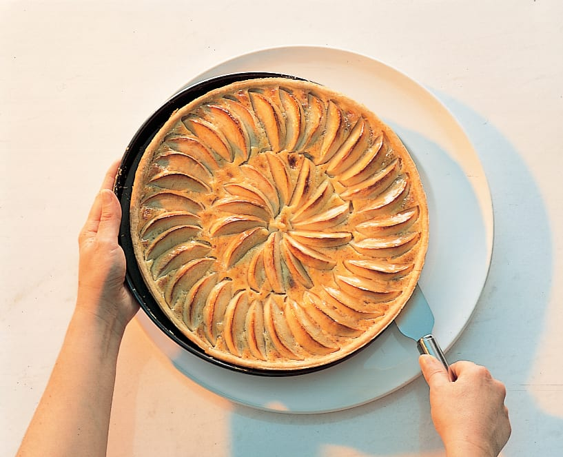 Tarte aux fruits, pâte sablée aux amandes