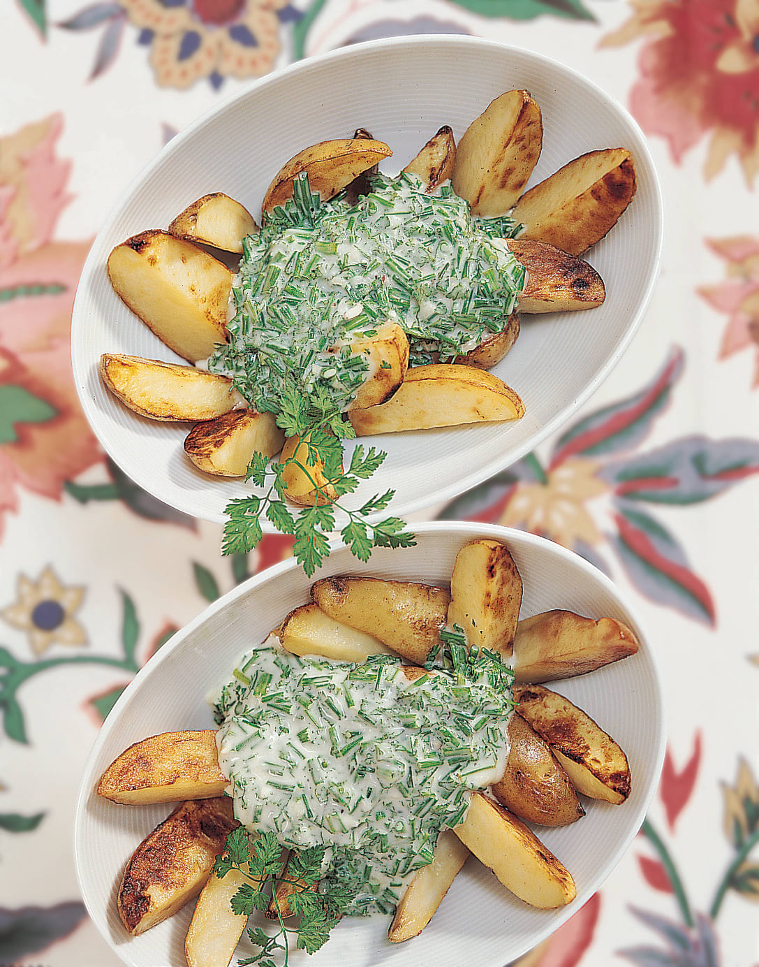 Frühkartoffeln mit Käsecrème