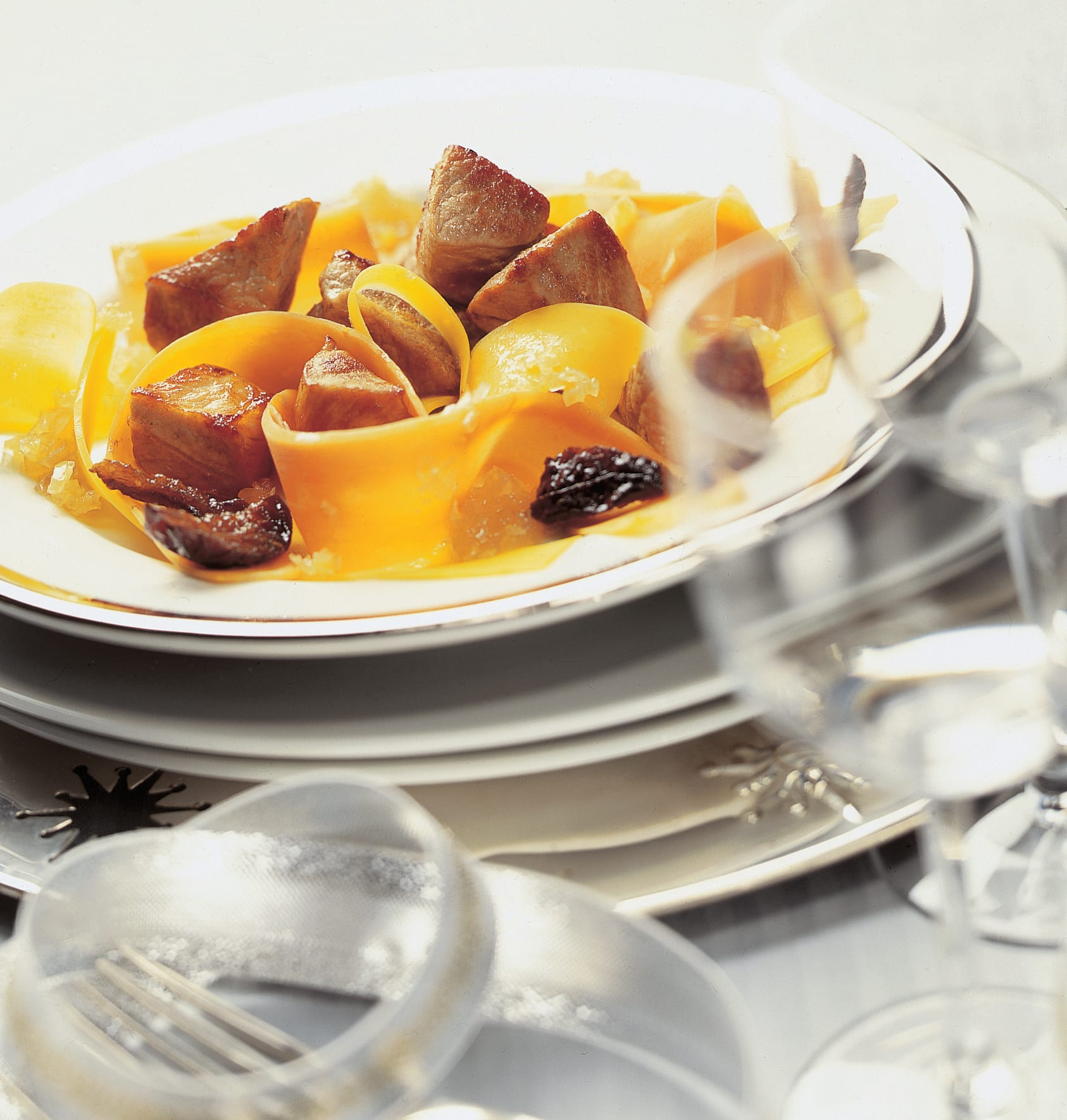 Marinade de porc sur carottes au miel