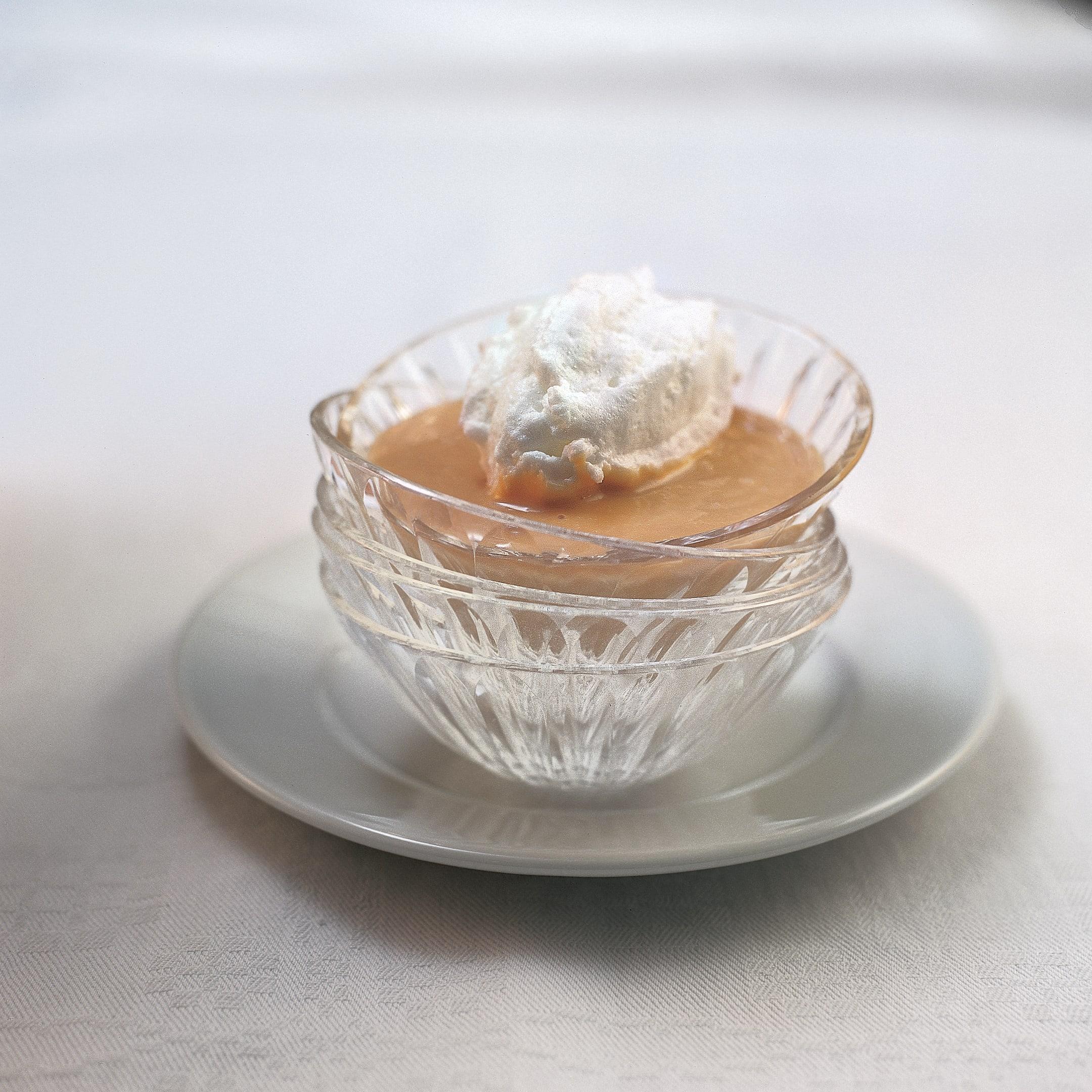 Crème brûlée et boules de neige