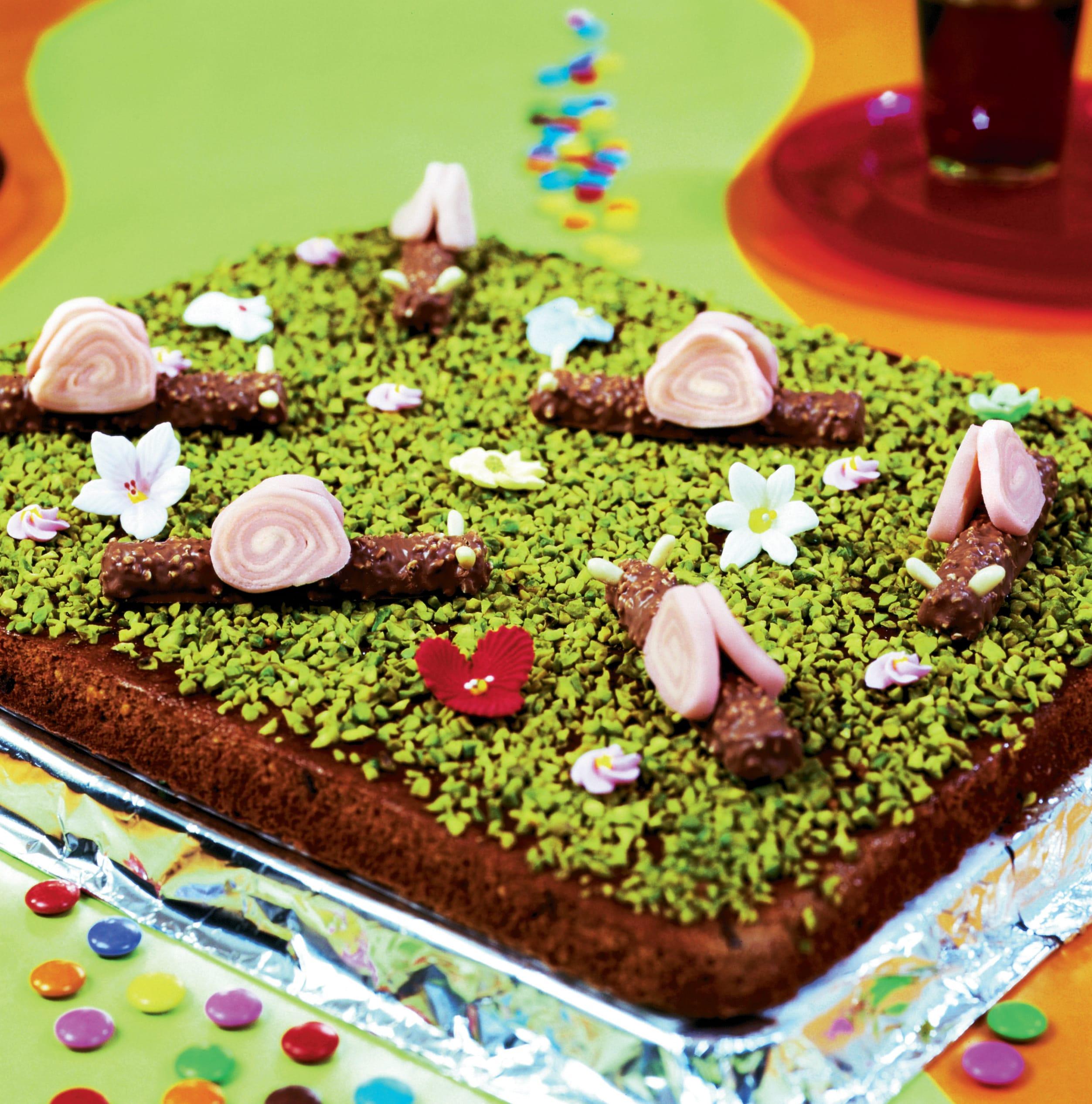 Gâteau d'anniversaire Escargots-des-prés
