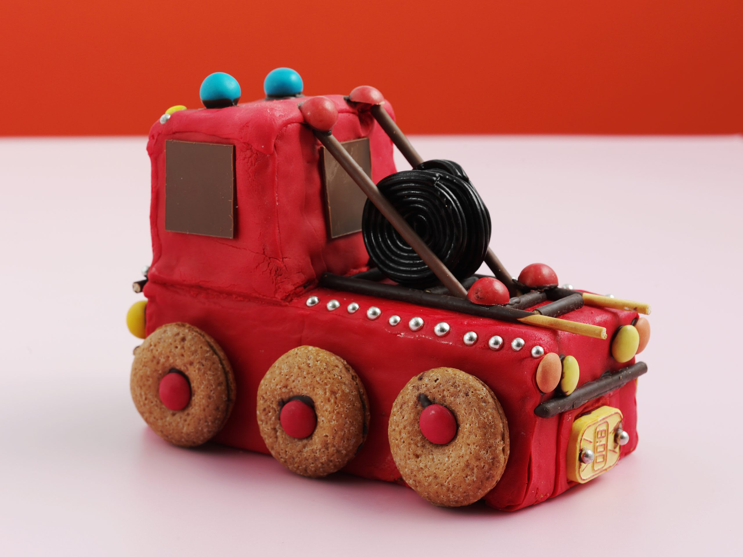 Gâteau d'anniversaire camion de pompiers