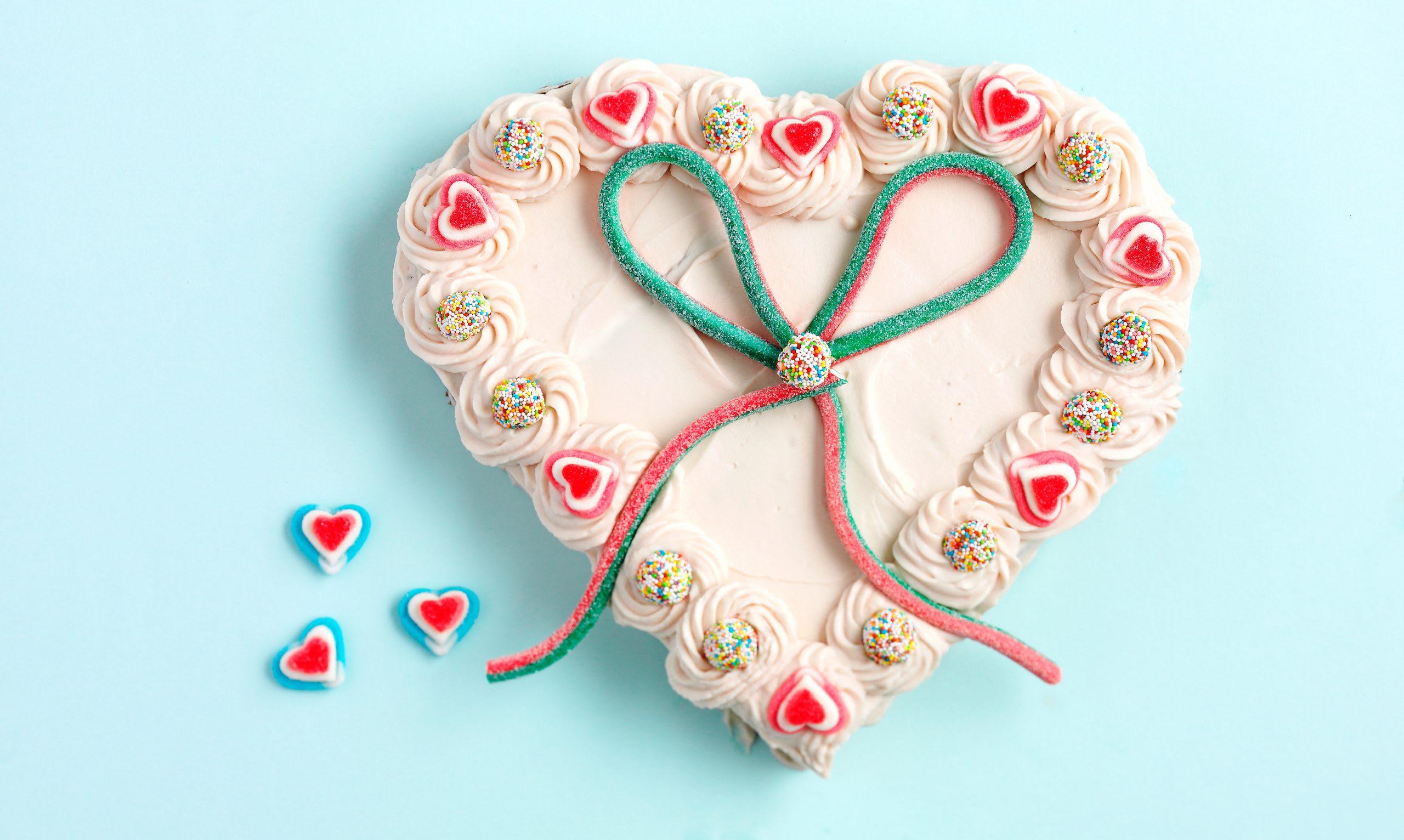 Gâteau d'anniversaire coeur