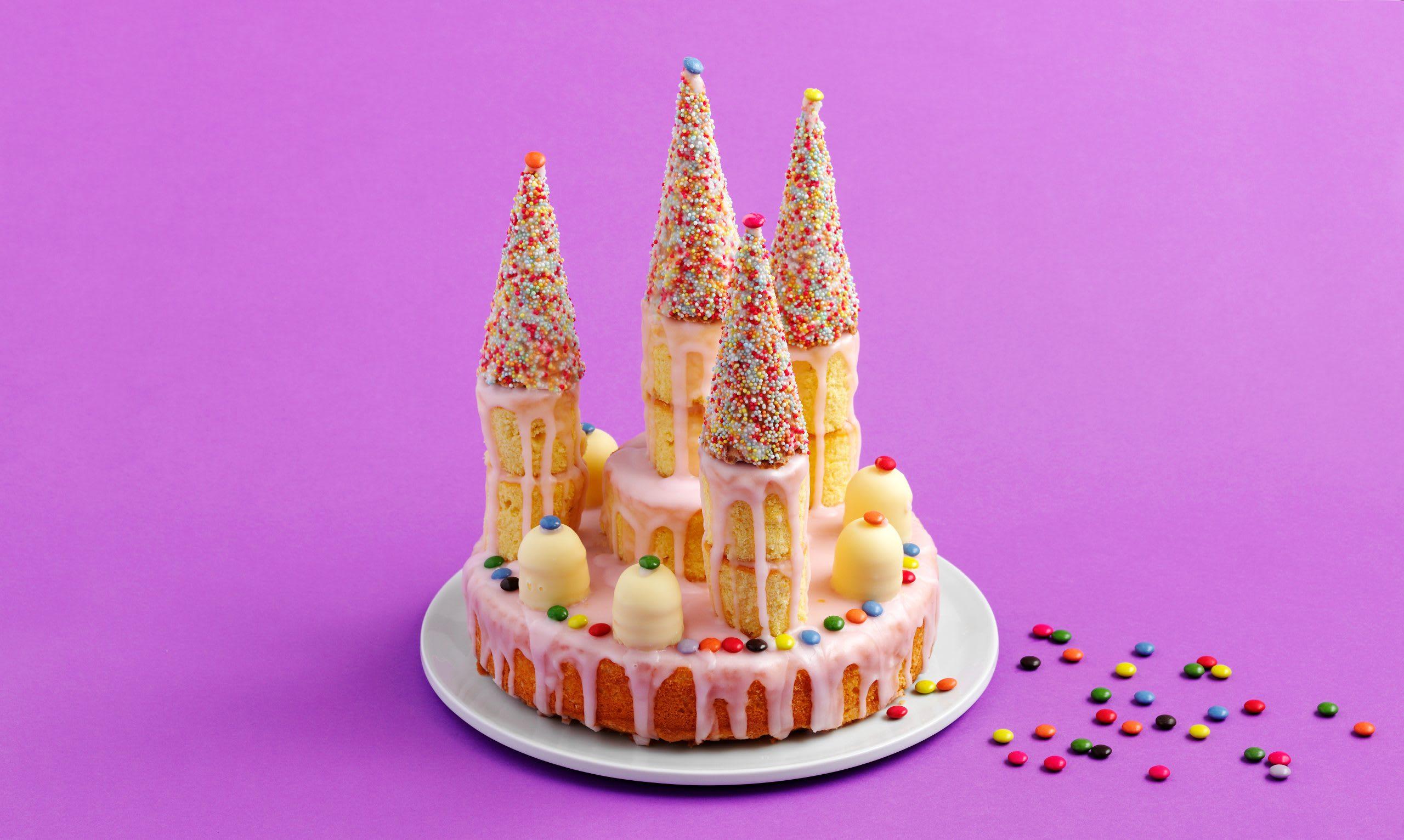 Gâteau d'anniversaire château de princesse