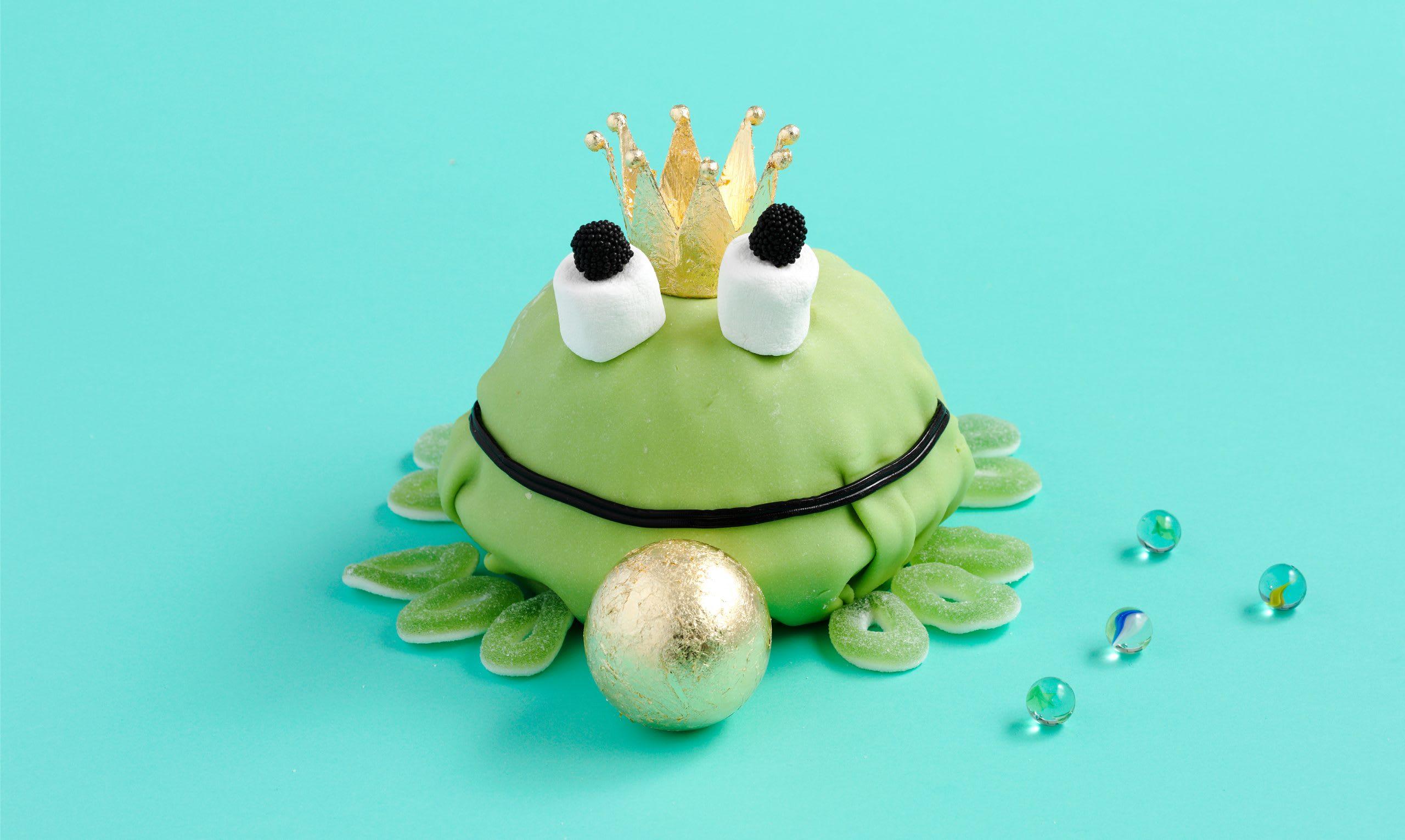 Geburtstagstorte Smarties-Froschkönig