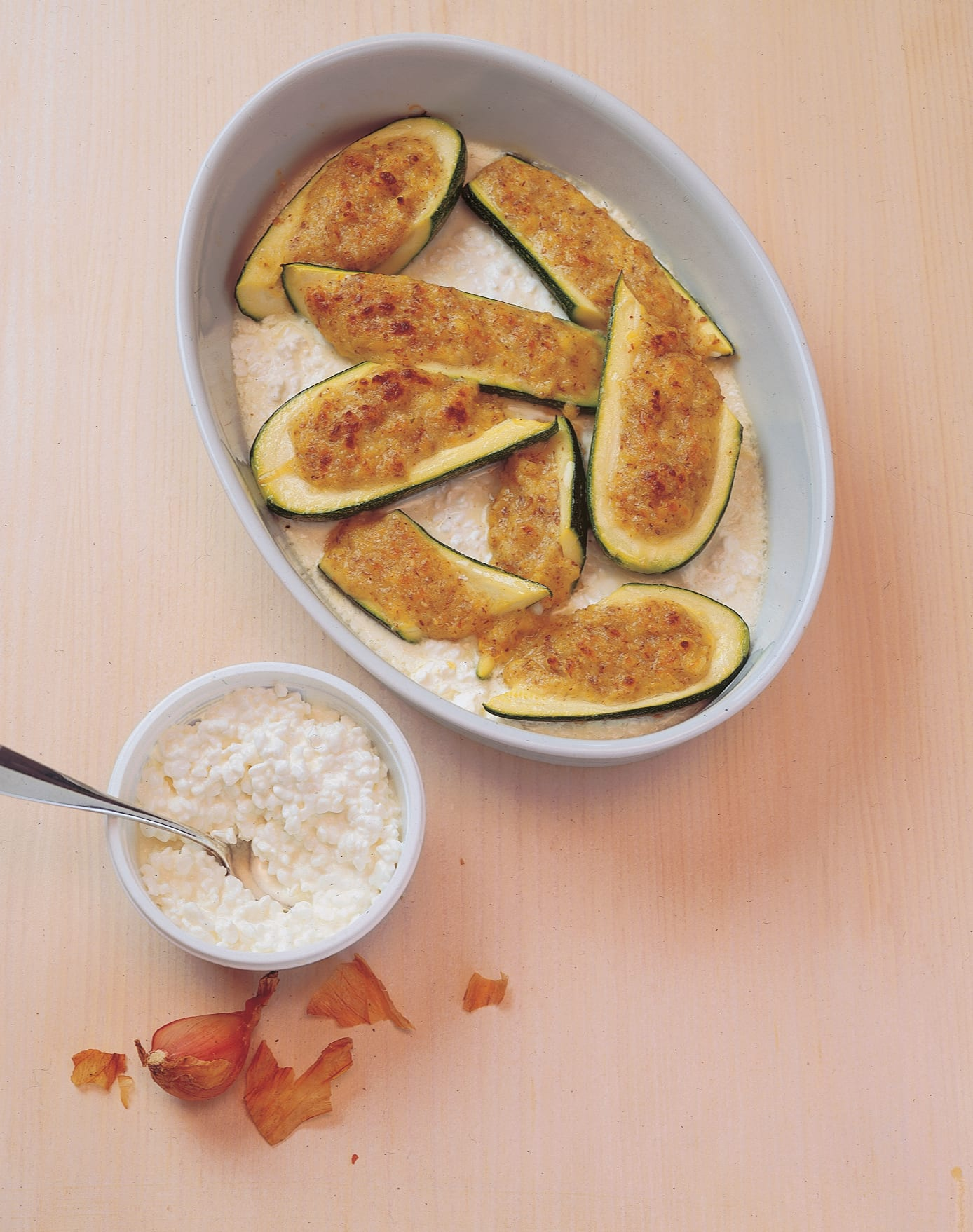 Gefüllte Mandel-Sbrinz-Zucchini