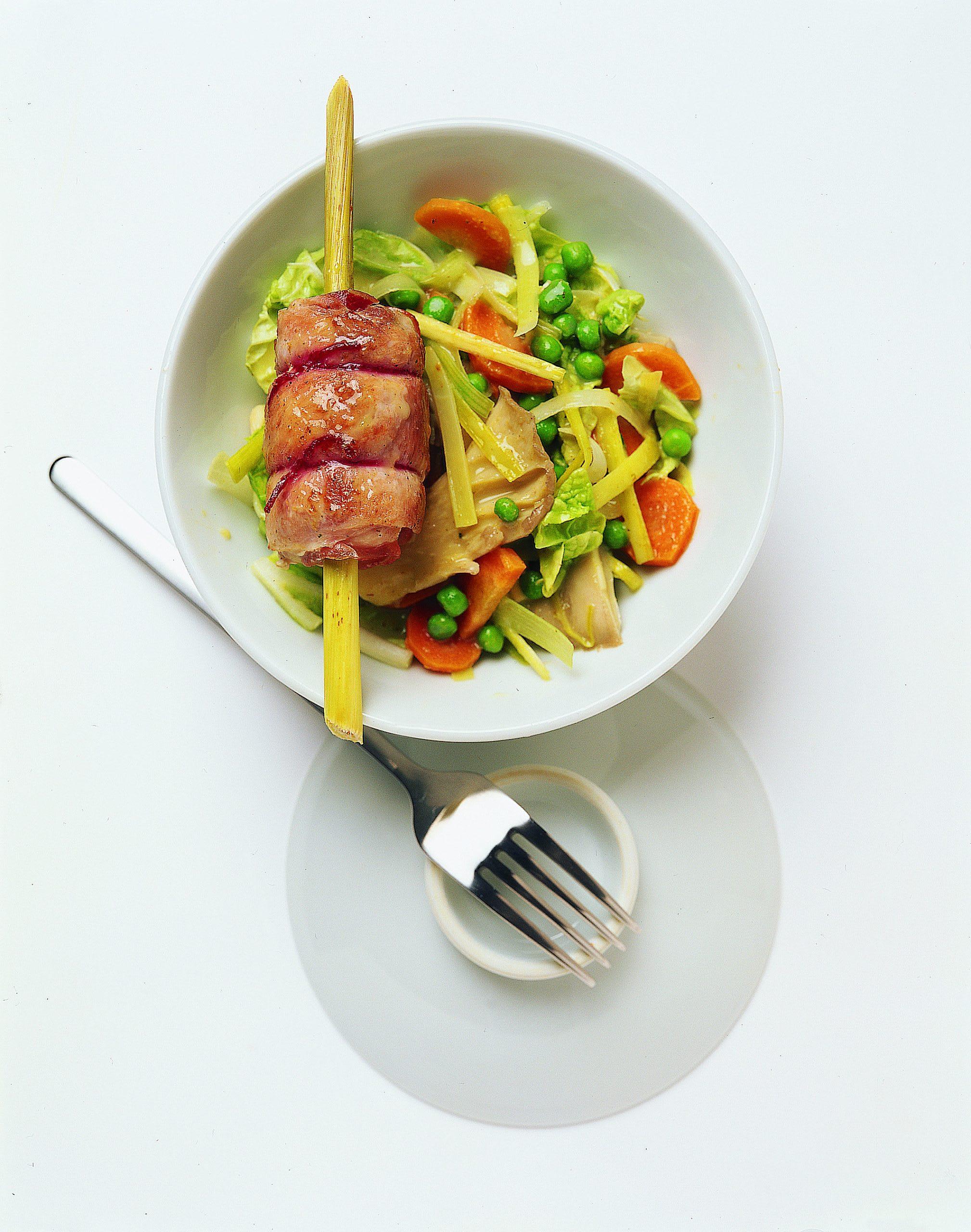 Gefüllte Pouletröllchen mit Gemüsecurry