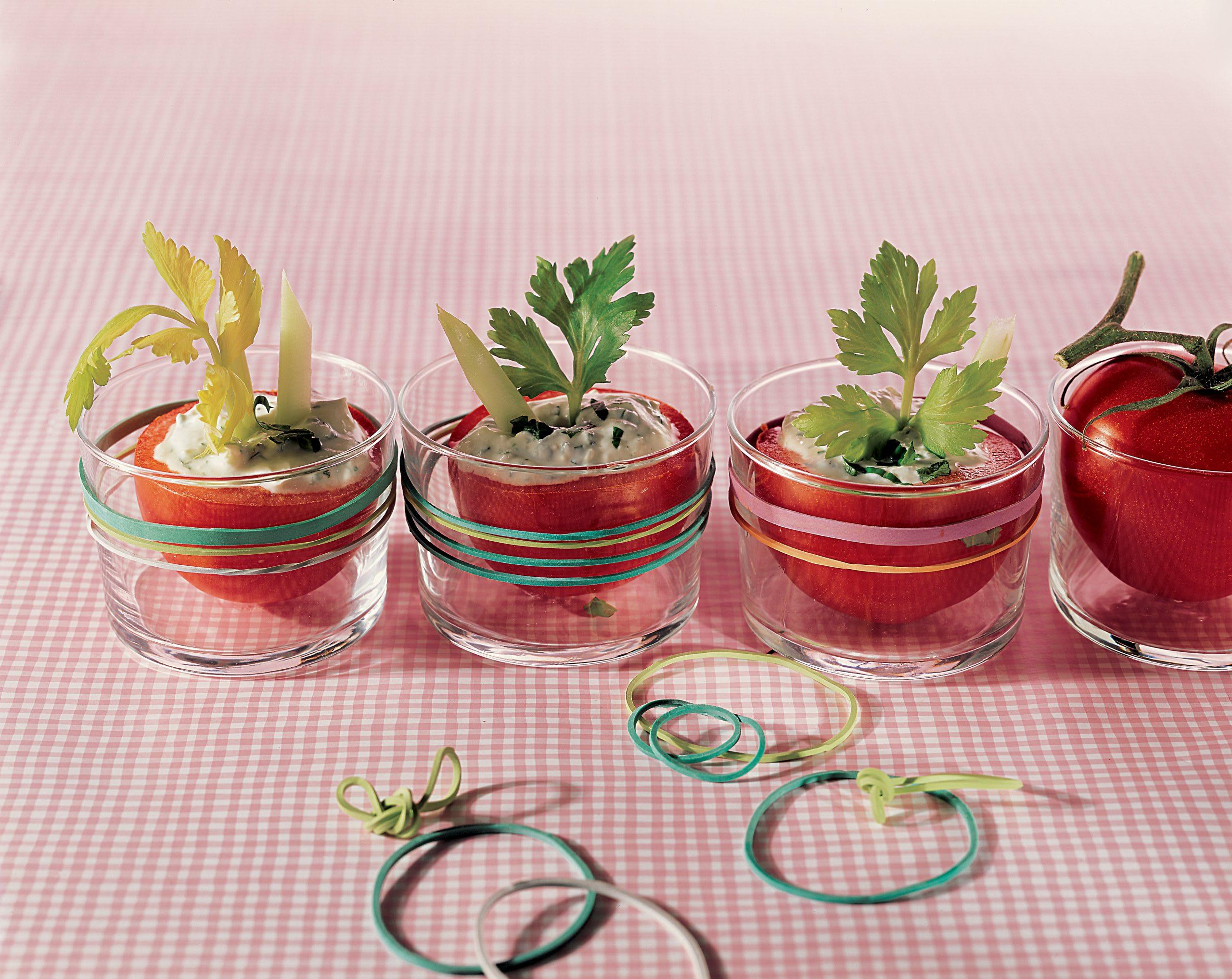 Gefüllte Tomaten mit Quark (ohne backen)