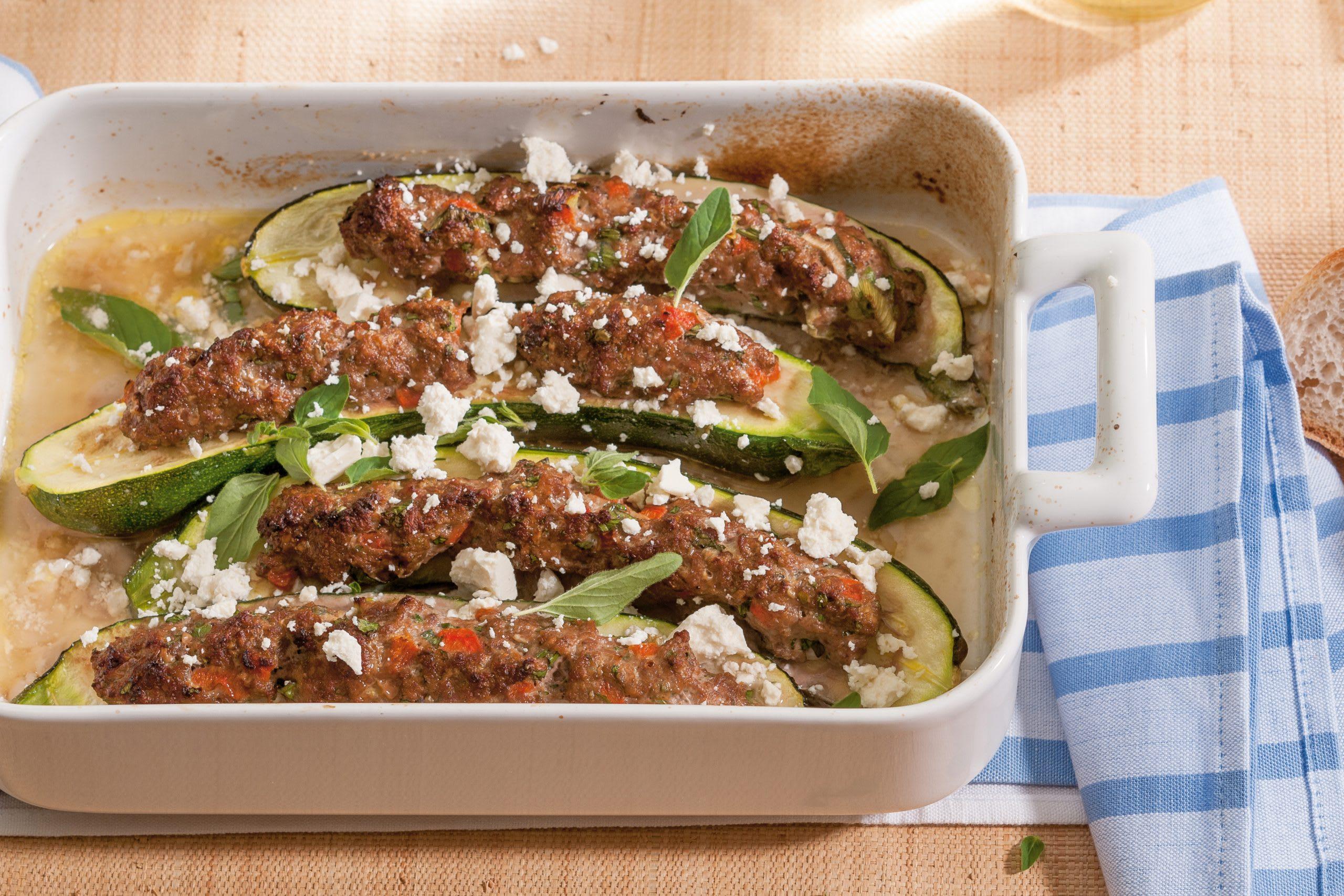 Courgettes farcies à la viande hachée (low carb)