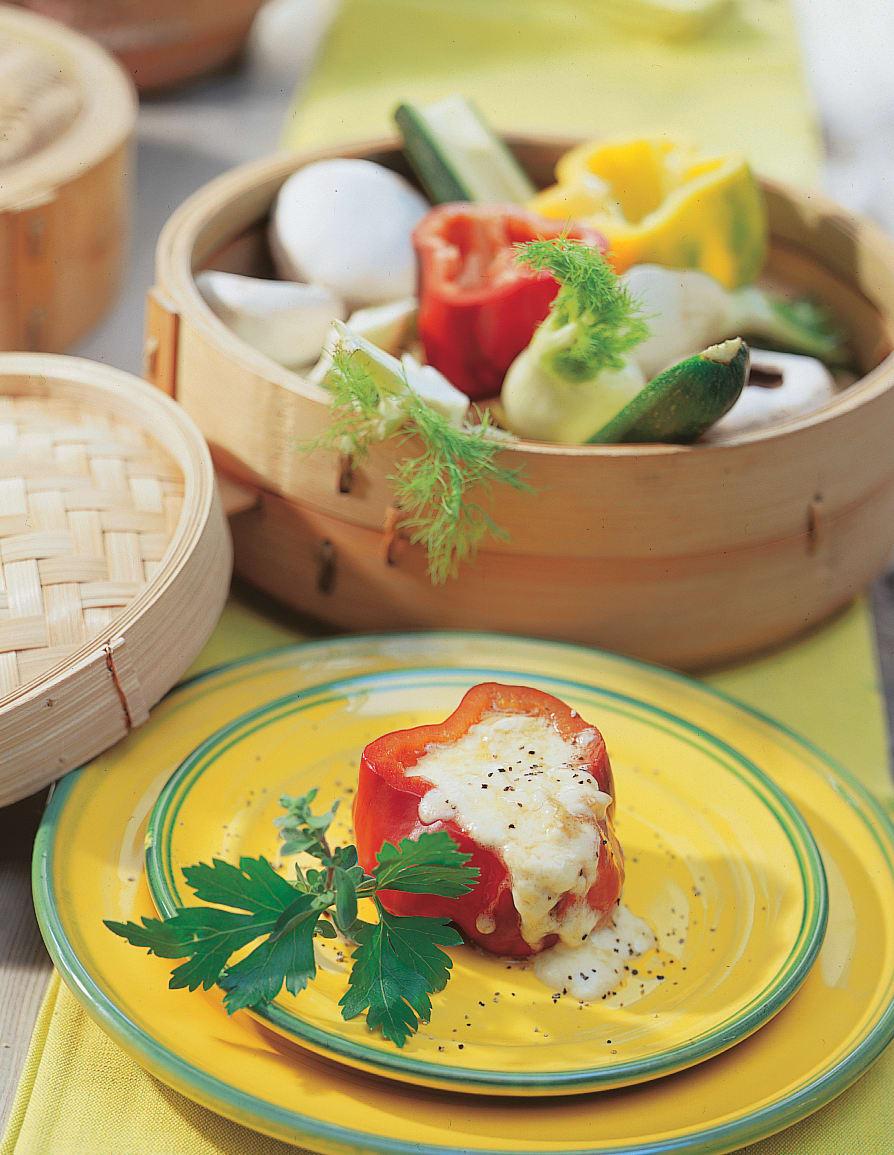 Gefülltes Gemüse mit Raclettekäse