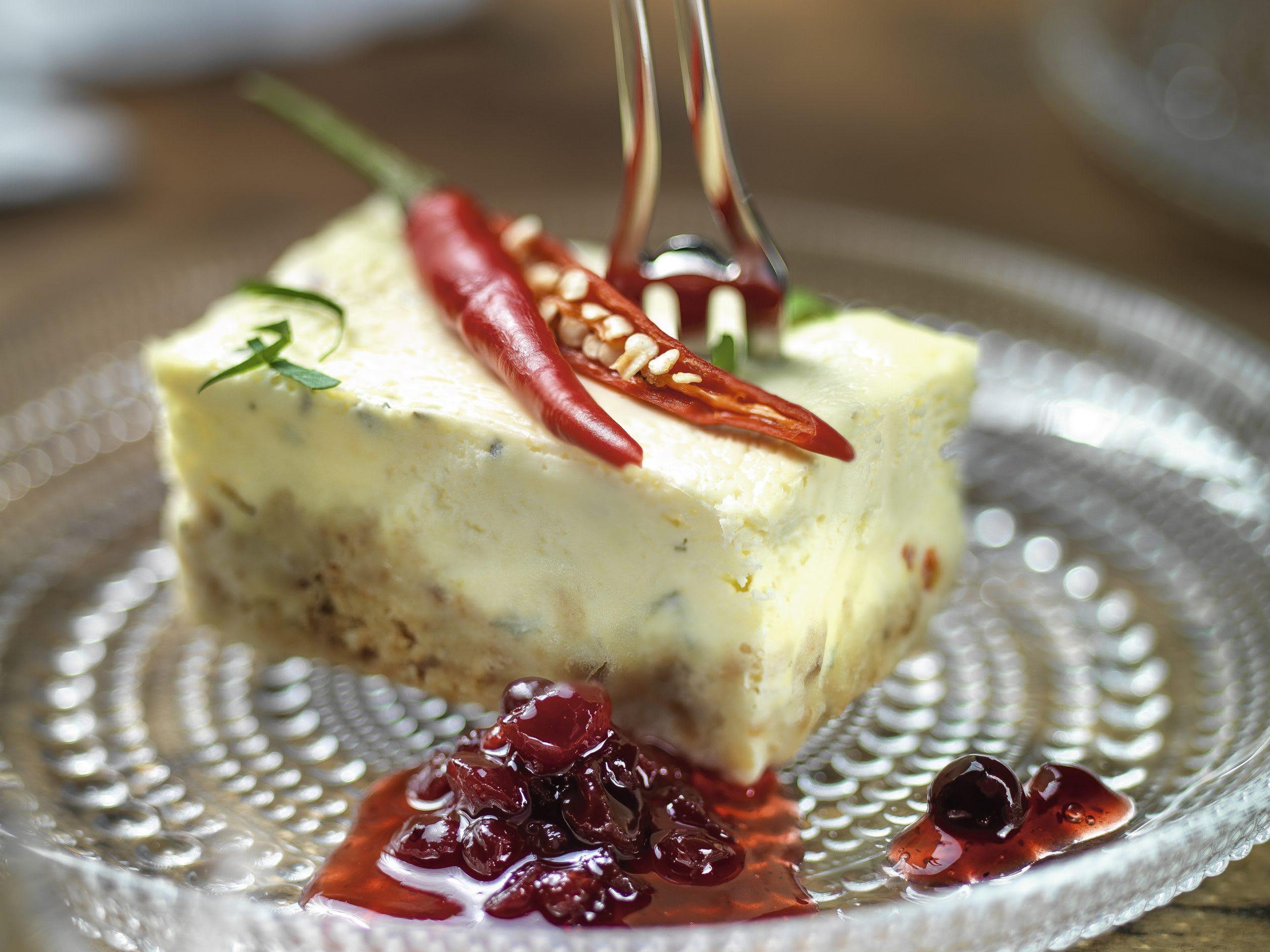 Salzige Mini-Cheesecakes