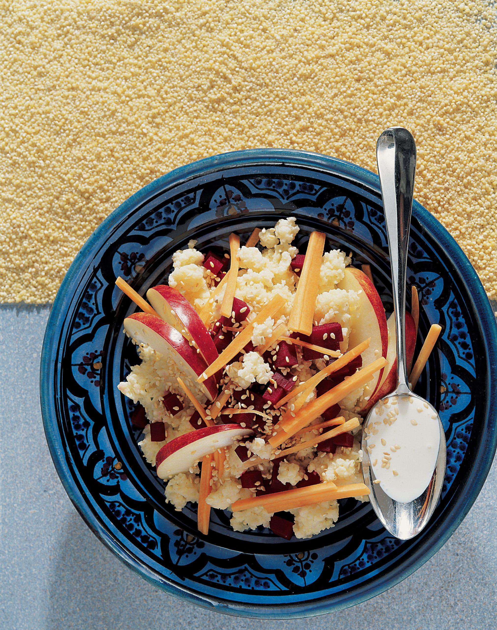 Gemüse-Apfel-Hirsesalat