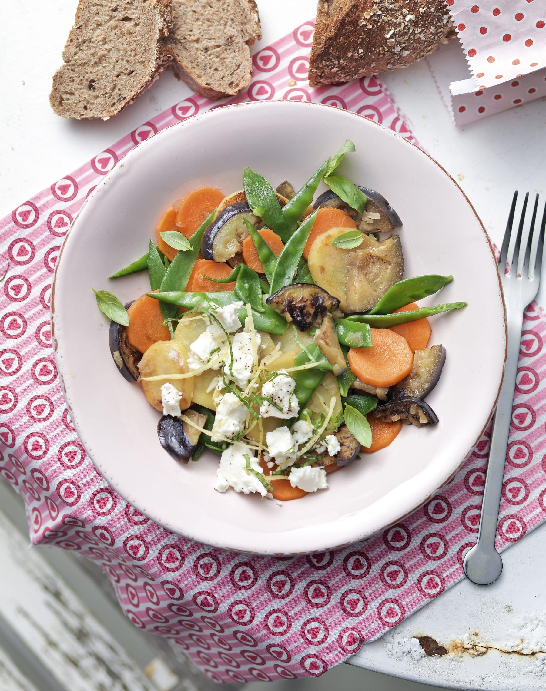 Gemüse-Eintopf mit Frischkäse