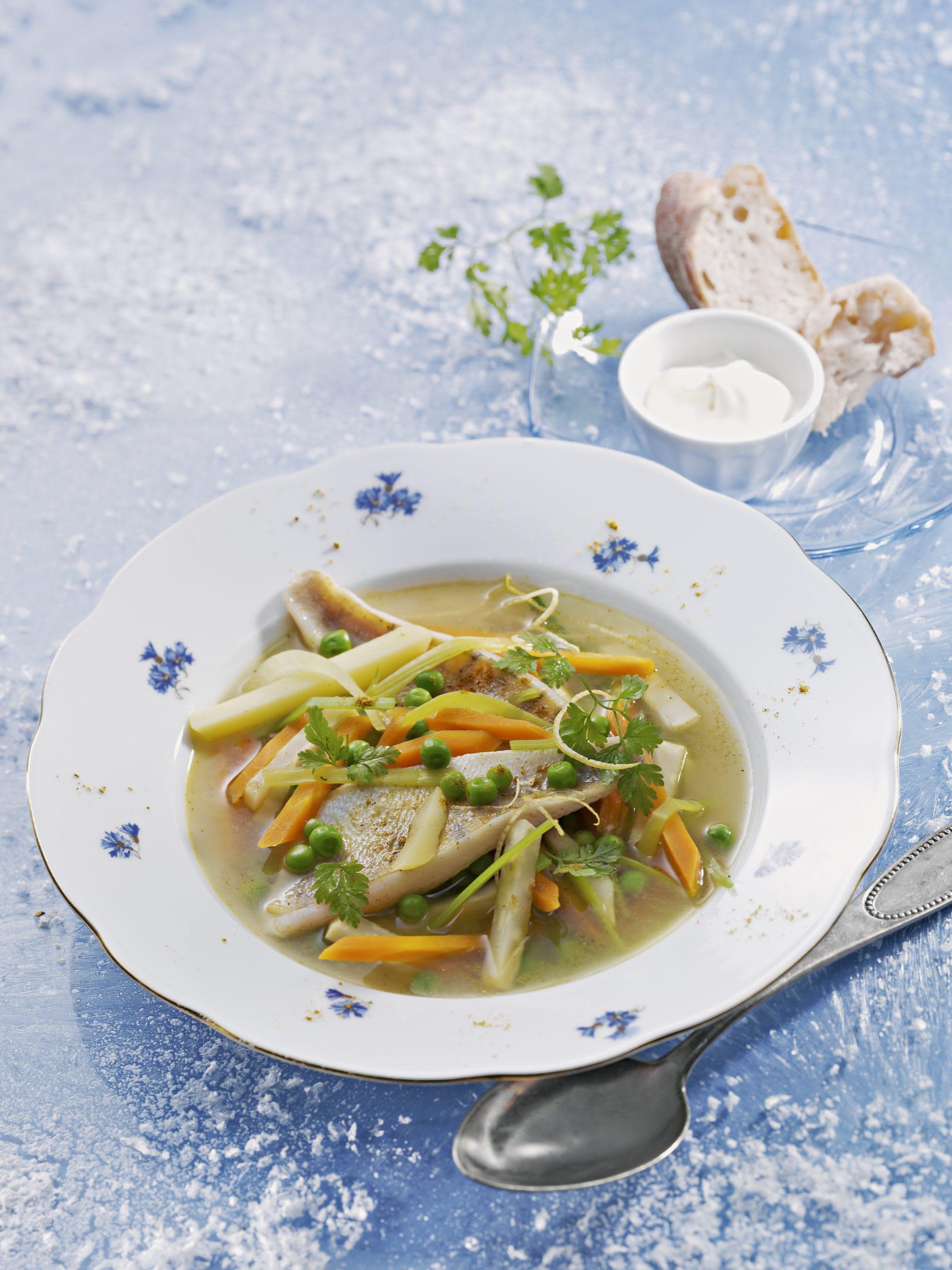 Curry de poisson et de légumes