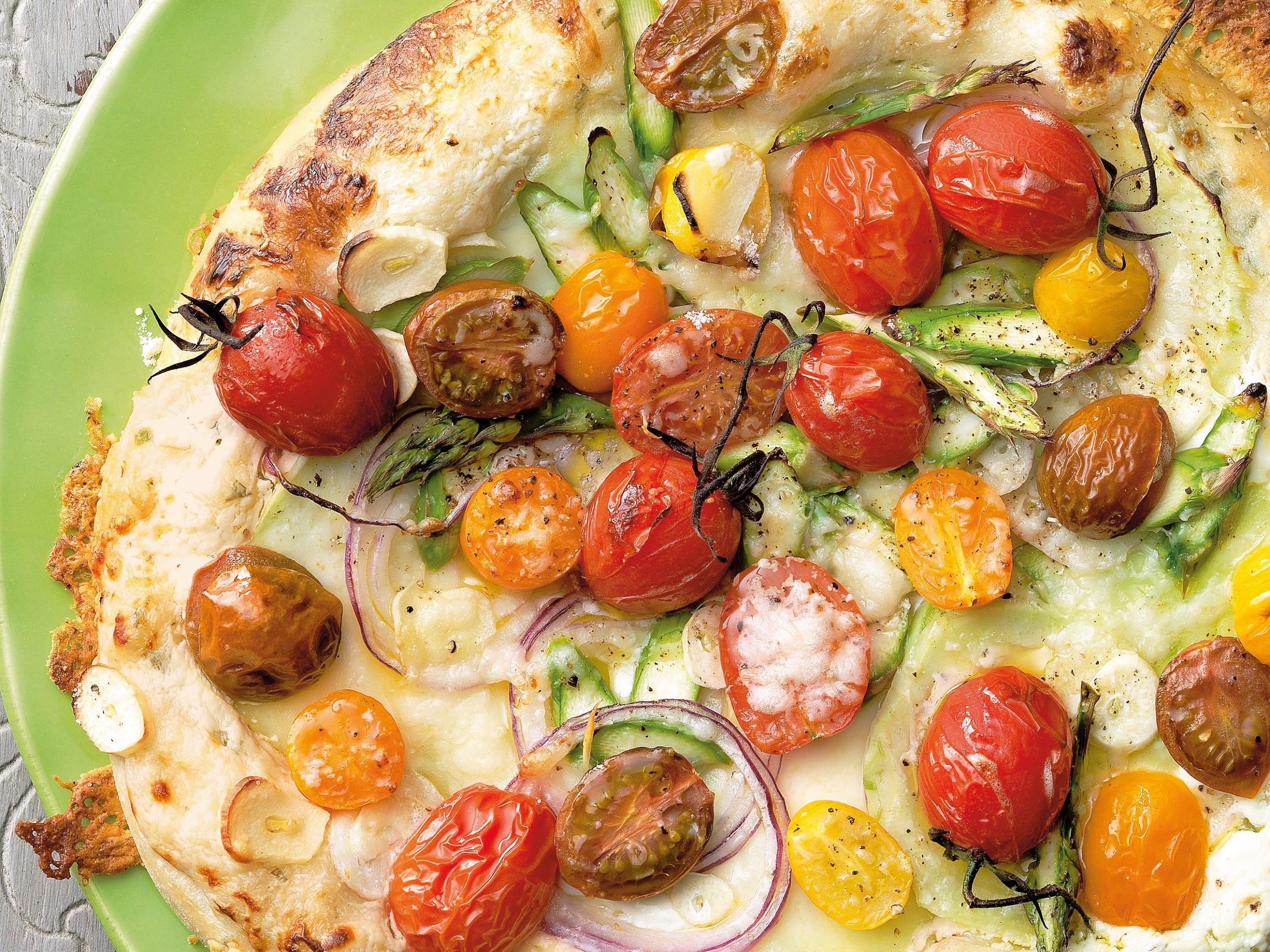 Gemüse-Flammkuchen (vegetarisch)