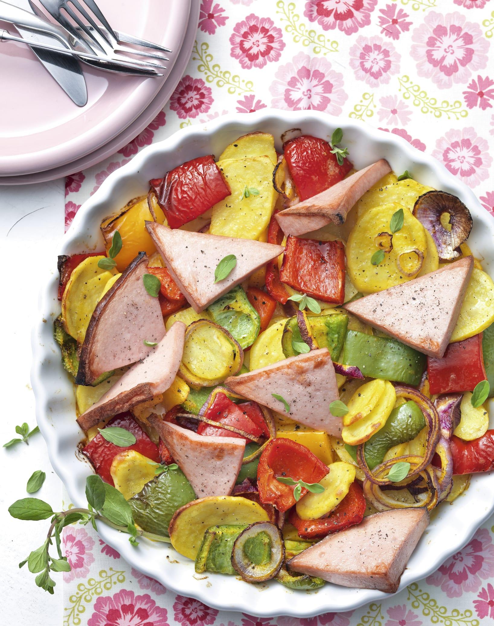 Gemüse-Fleischkäse-Mix
