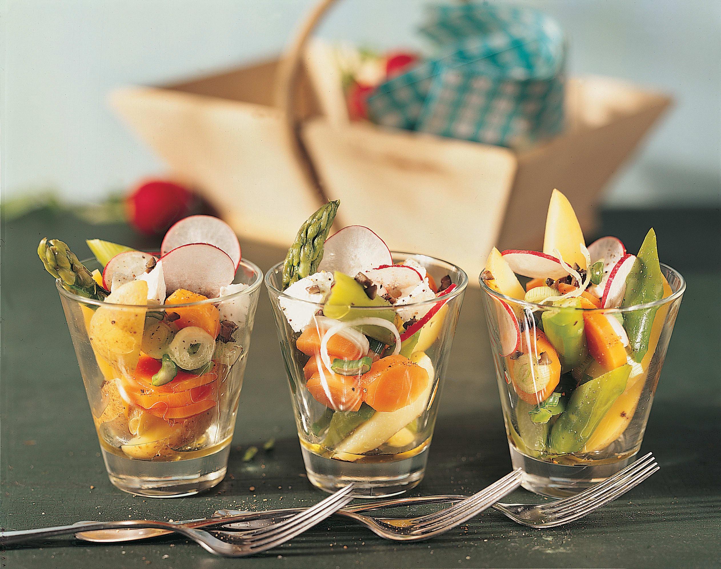 Salade de fromage frais aux légumes