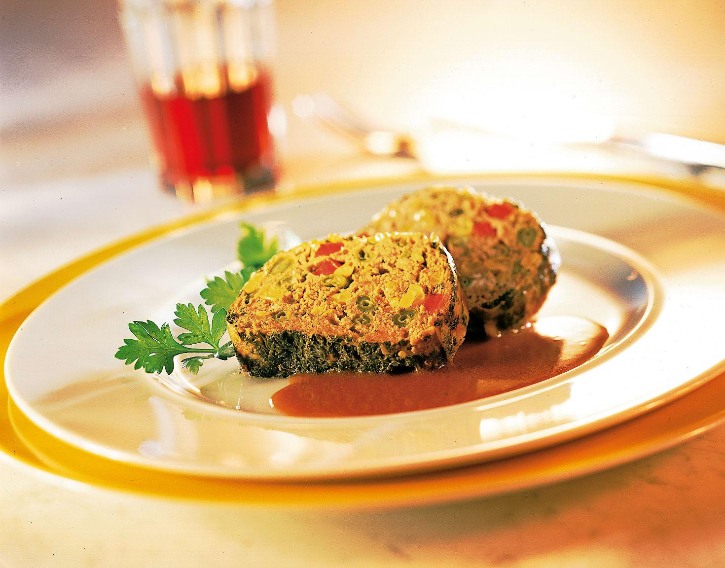 Rôti de viande hachée aux légumes