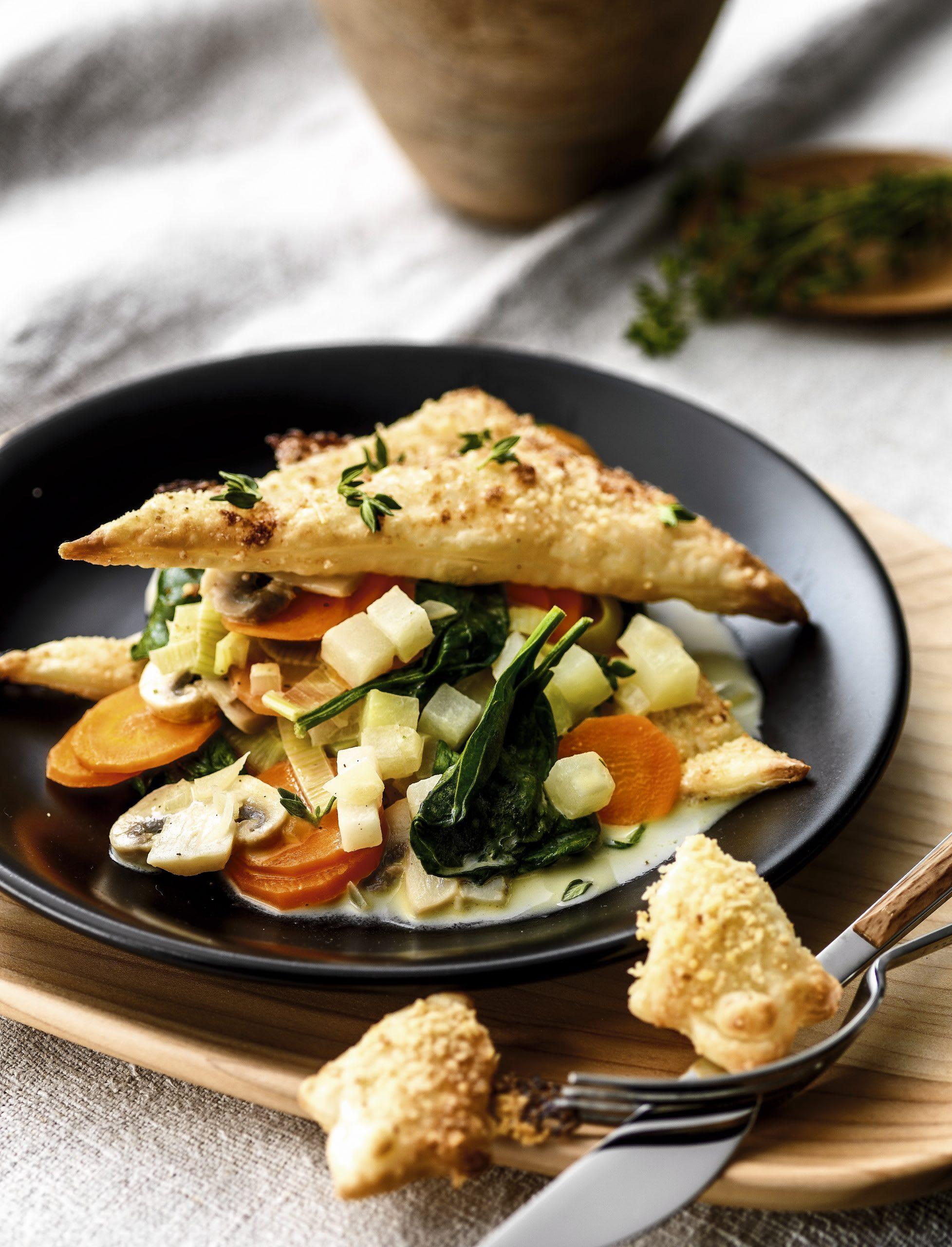 Gemüse-Käse-Feuilletés