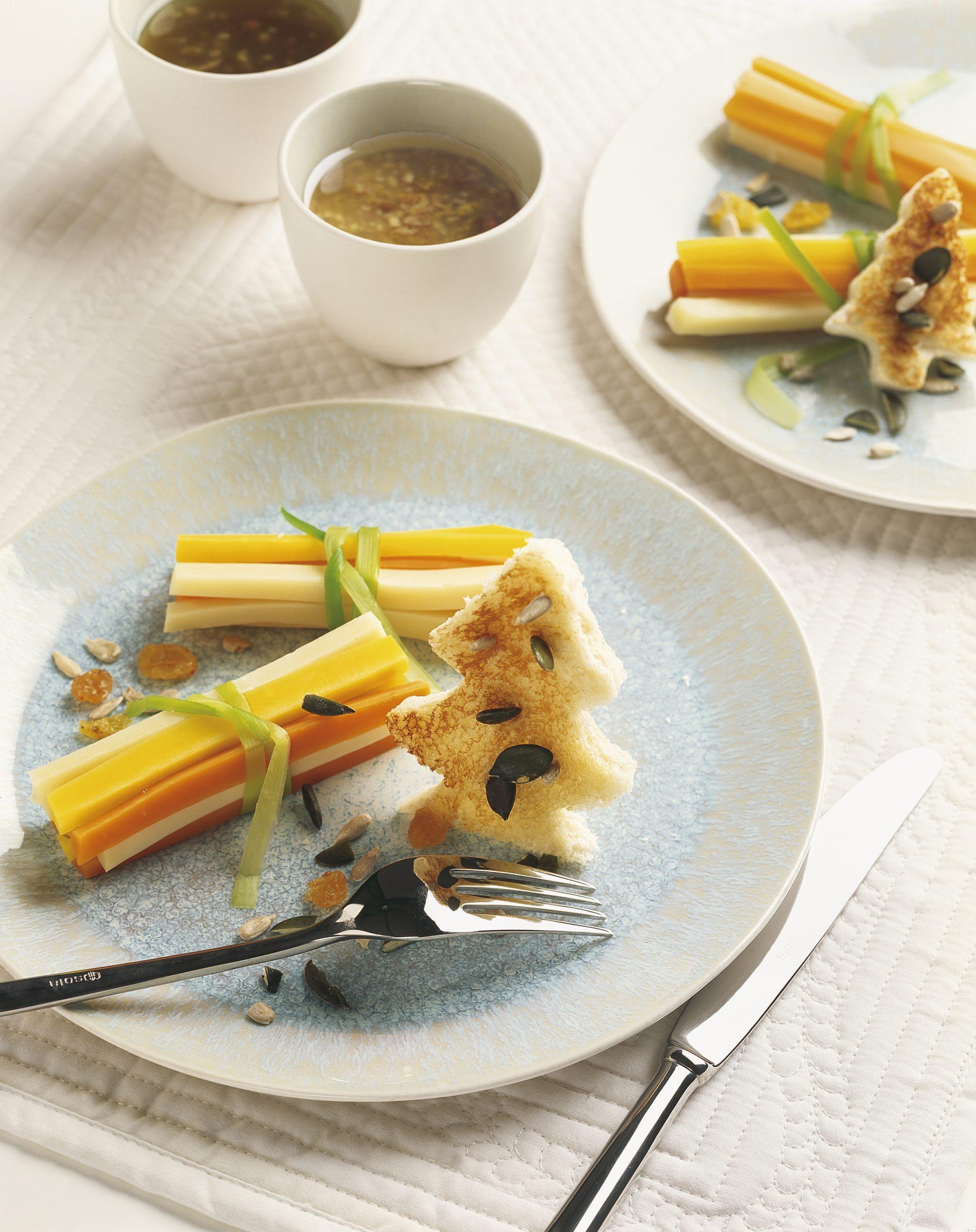 Gemüse-Käse-Röllchen