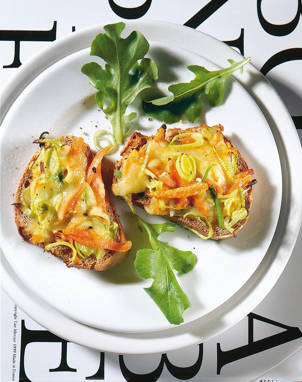 Gemüse-Käseschnitten