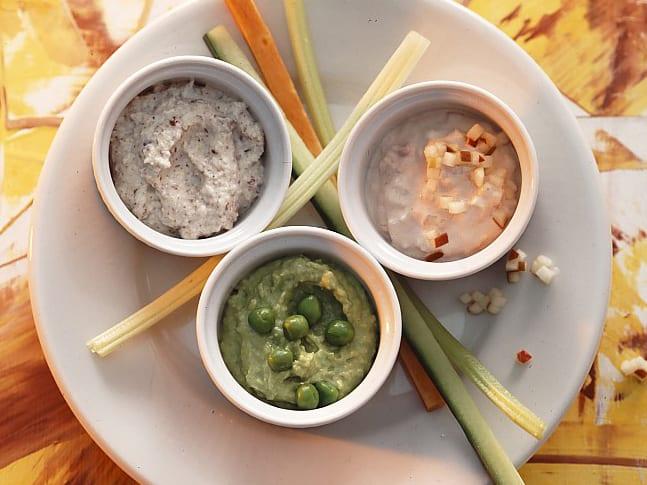 Mikado de légumes aux trois sauces
