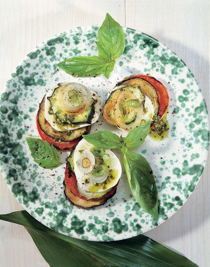 Gemüse-Millefeuilles