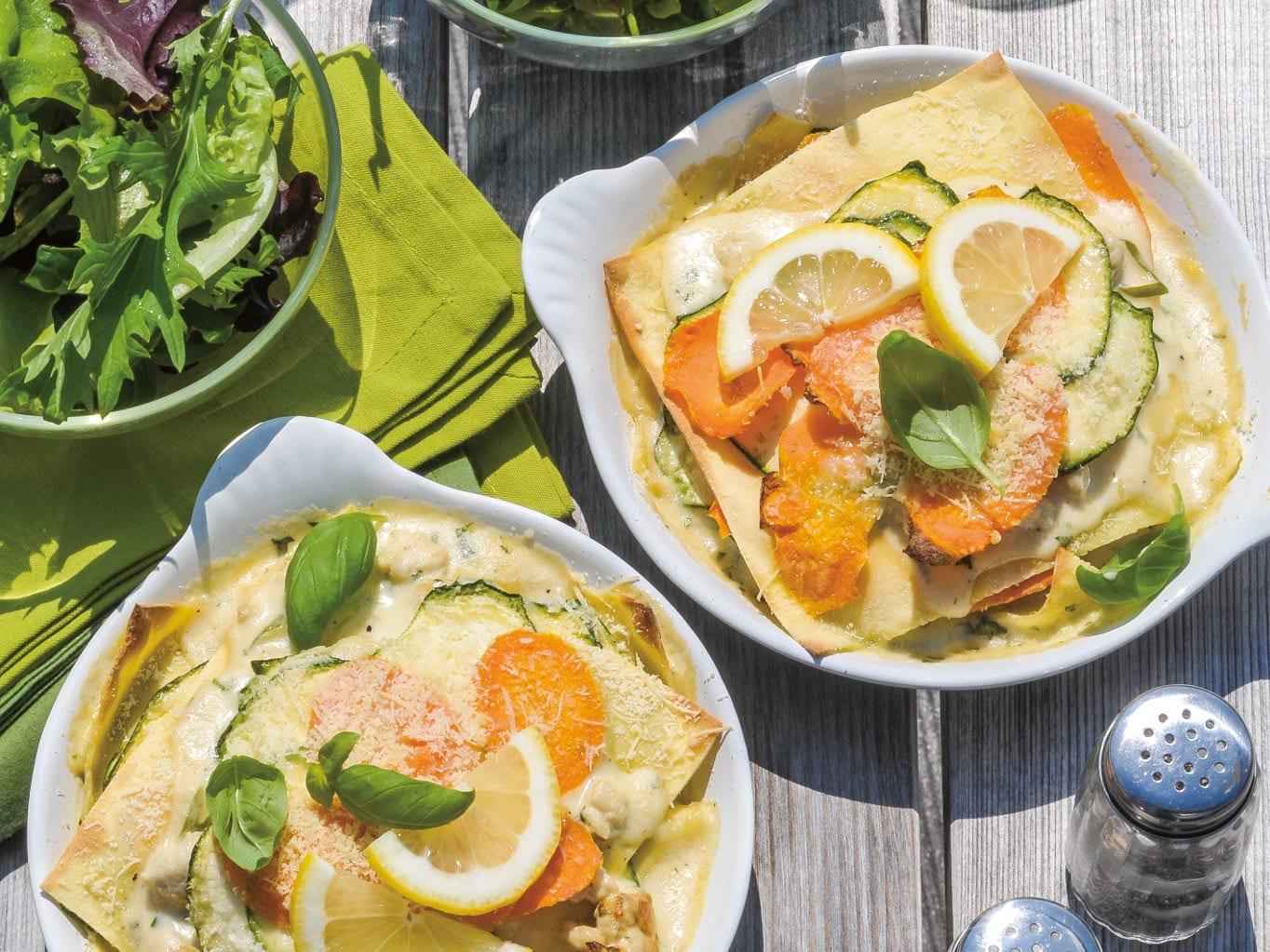 Gemüse-Poulet-Lasagne