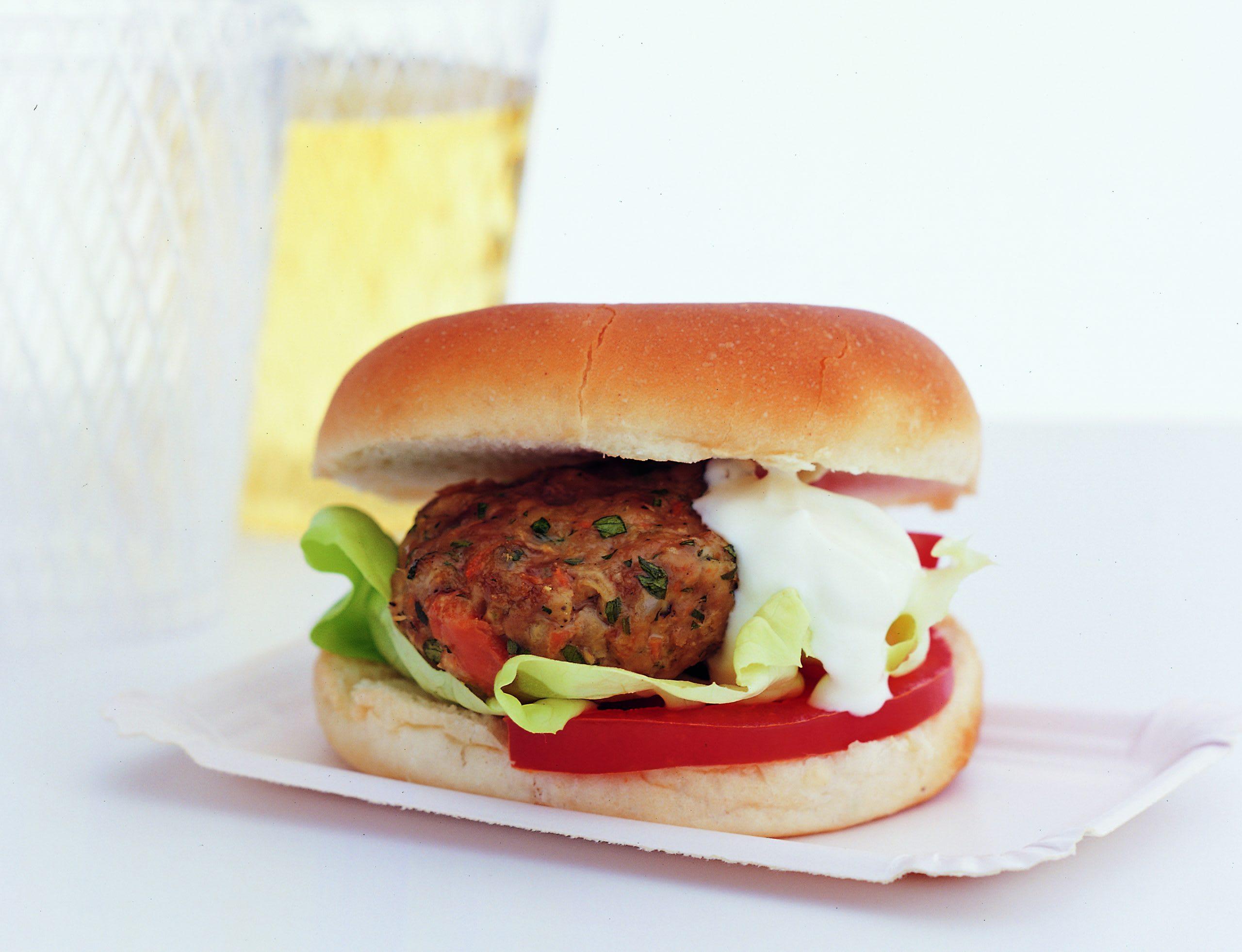 Gemüse-Rindfleisch-Burger