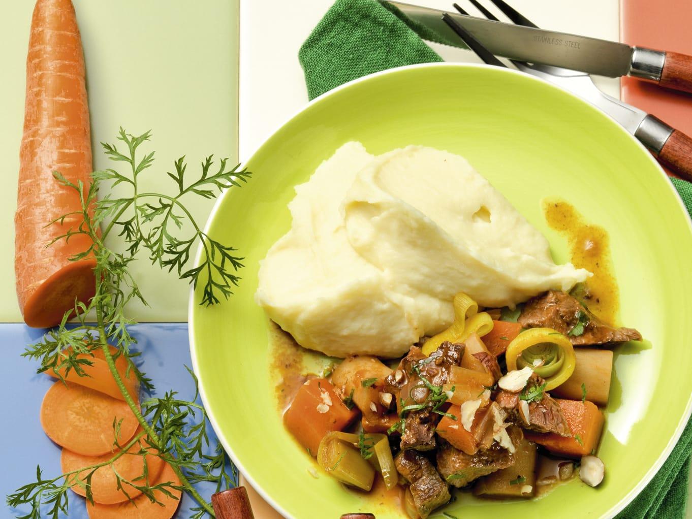 Ragoût de boeuf aux petits légumes