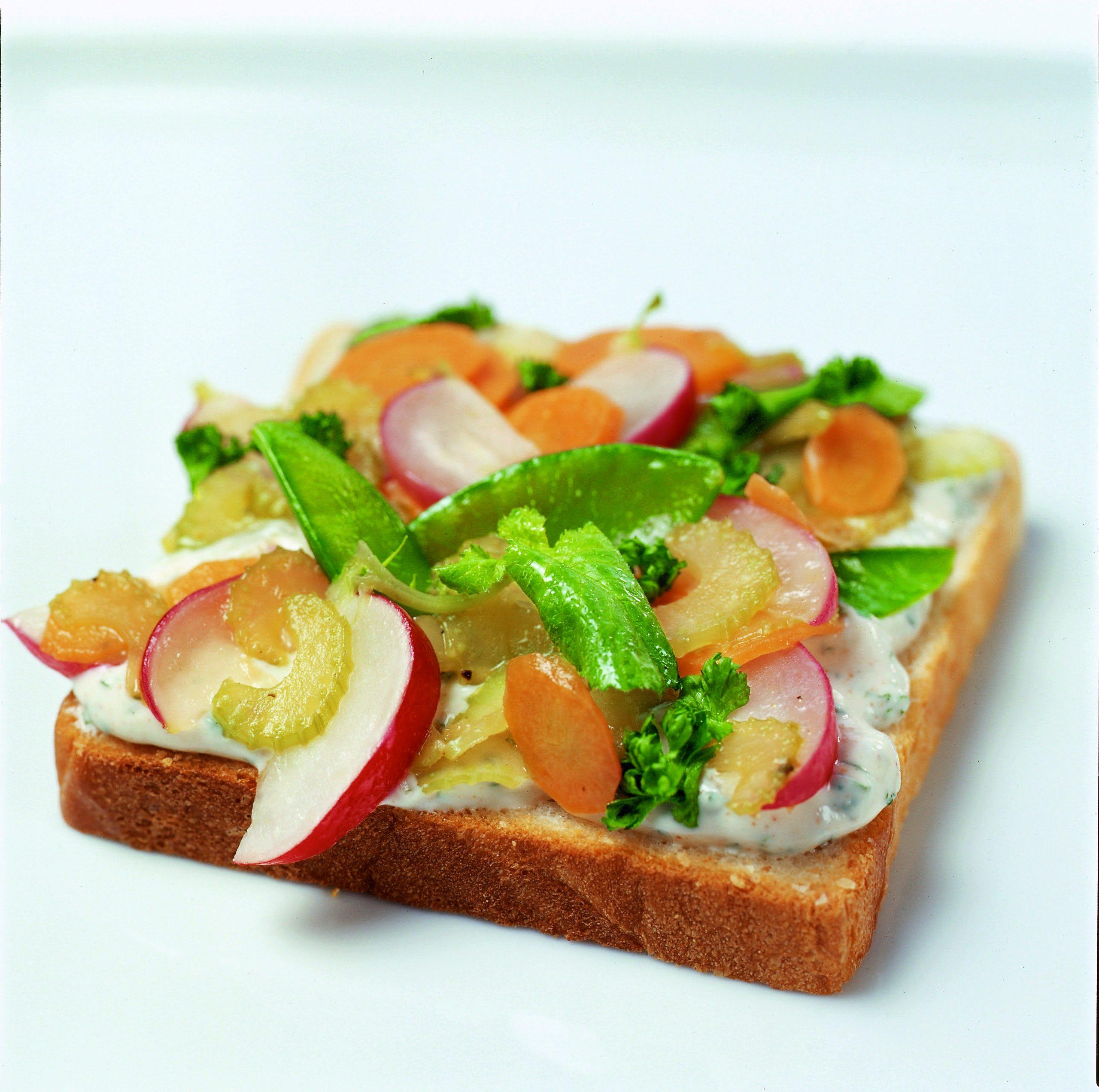 Toasts aux légumes