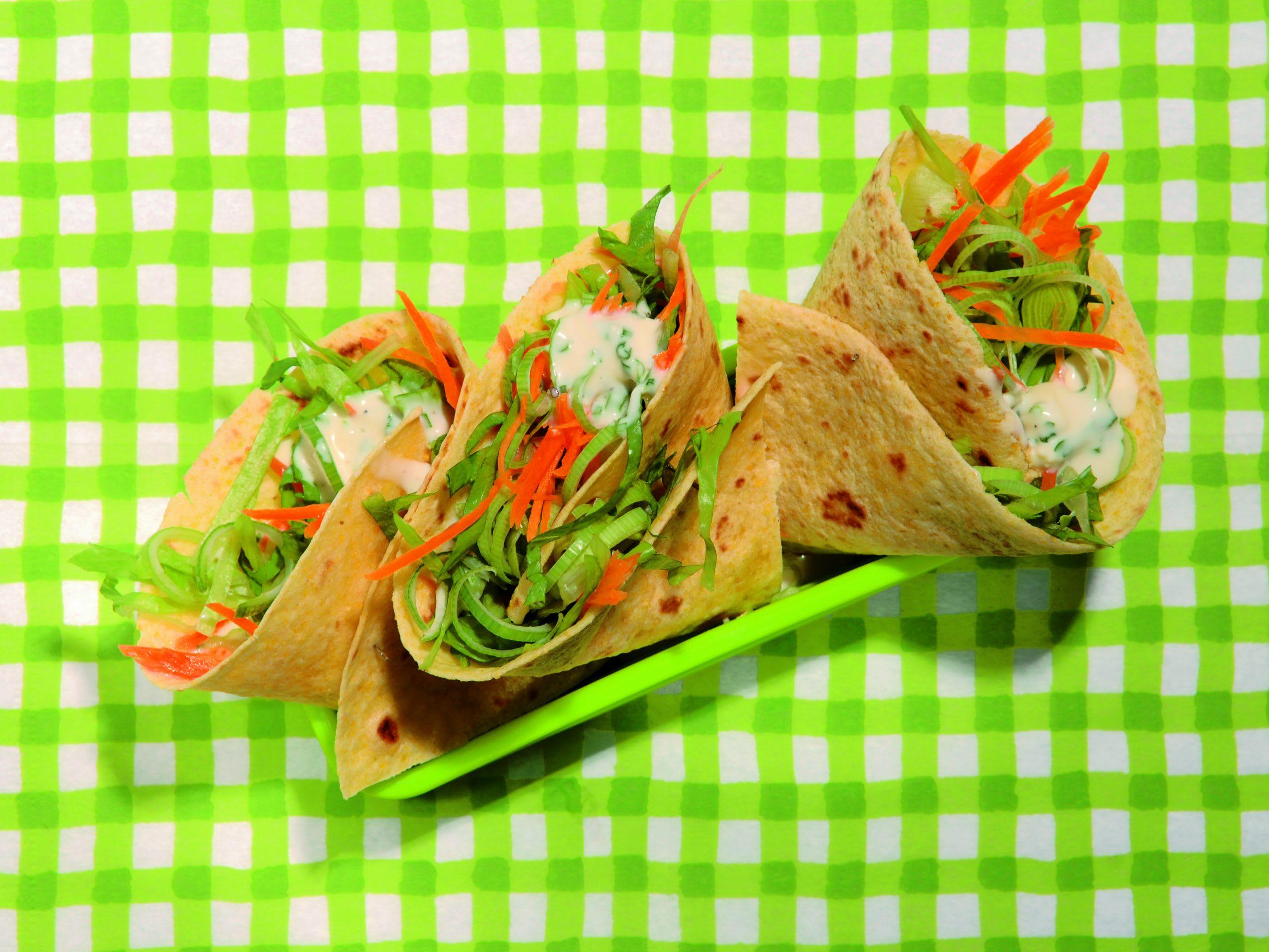 Wraps aux légumes et au camembert