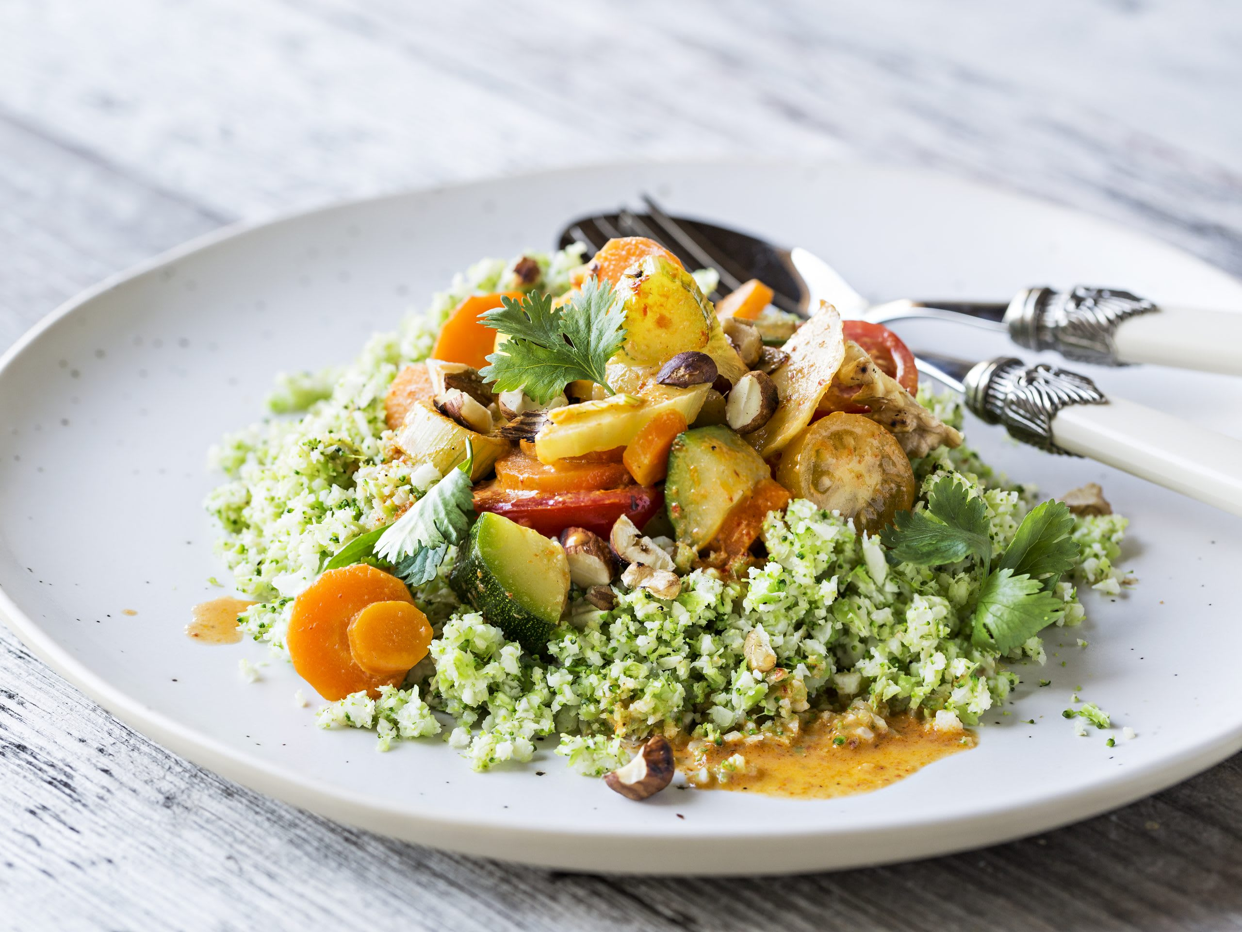 Gemüsecurry mit Low-Carb-Couscous