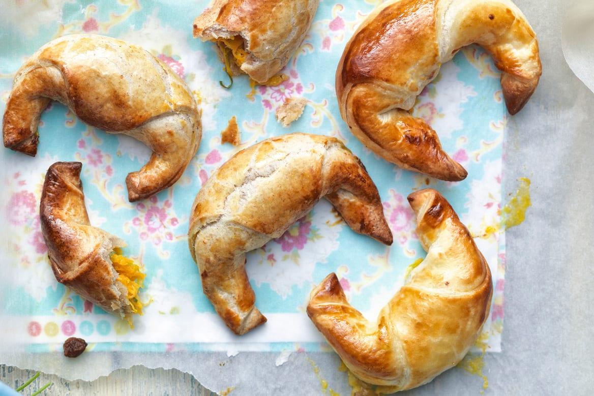 Croissants aux légumes séré à la roquette