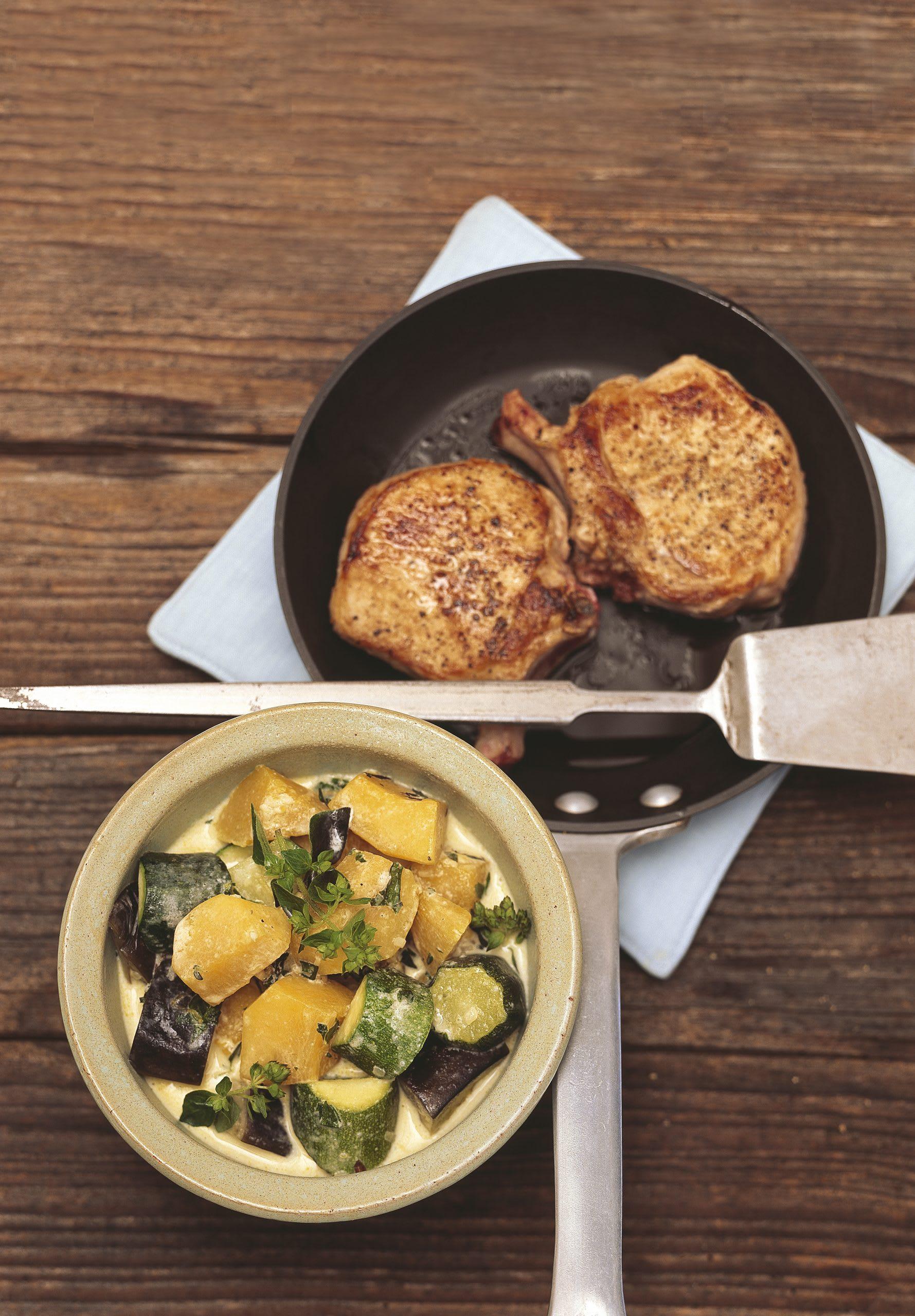 Ragoût de légumes et côtelettes (low carb)