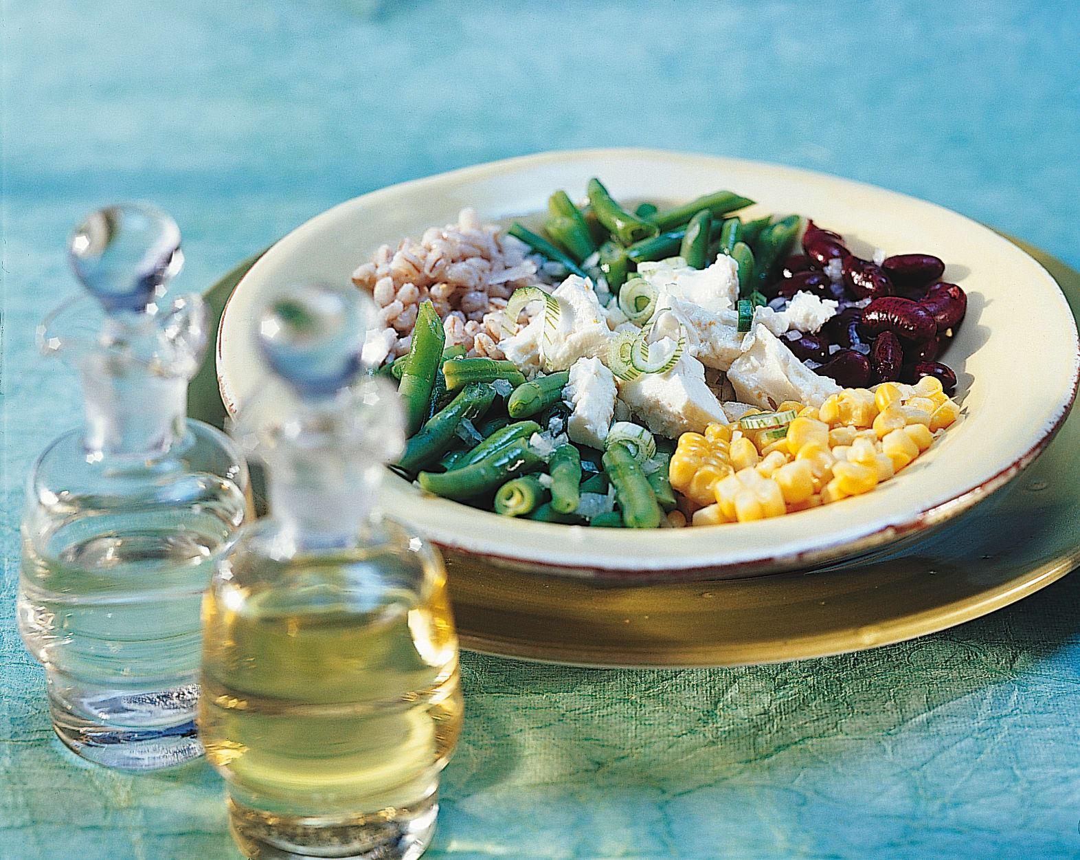 Salade d'orge et de maïs