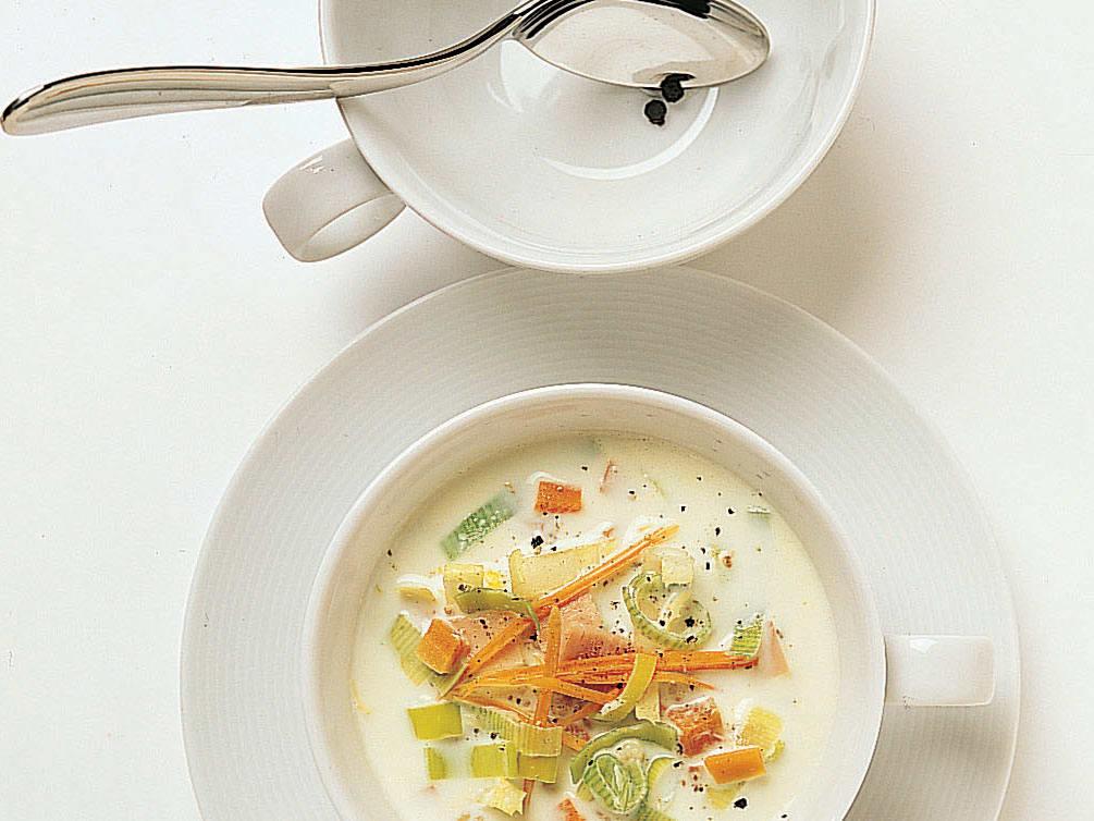 Gersten-Milch-Suppe mit Chicorée