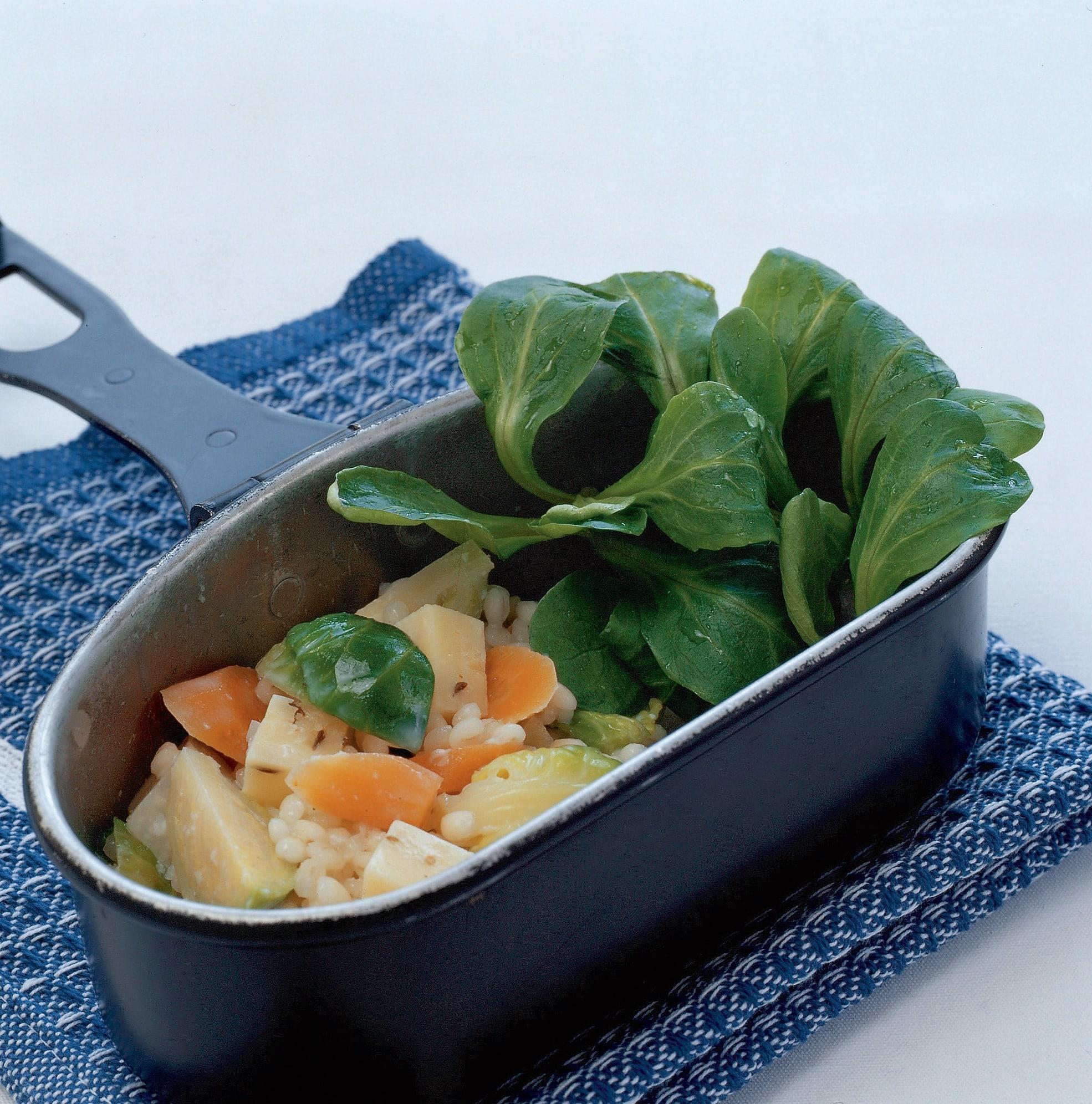 Salade d'orge (dîner, pique-nique)