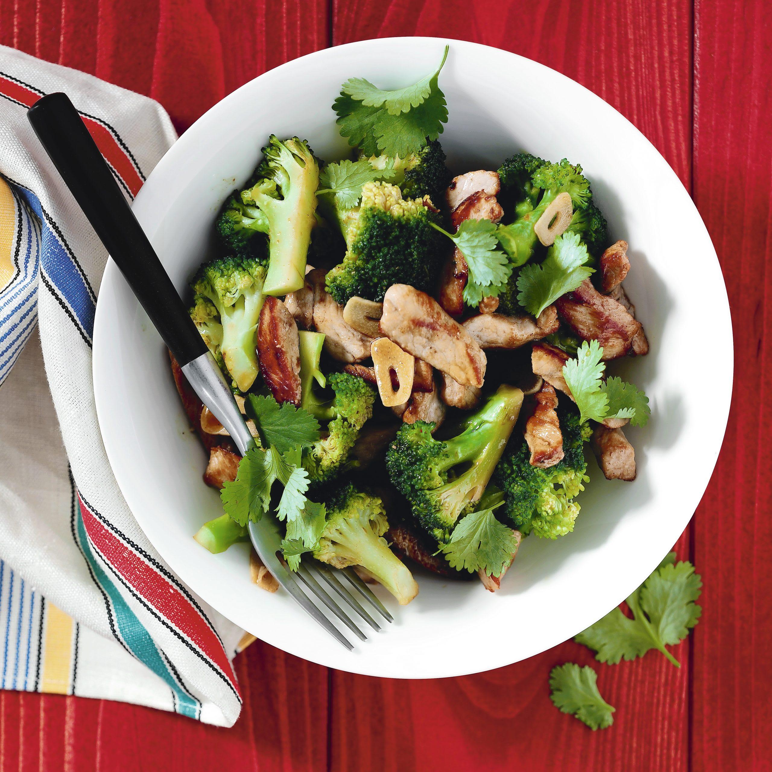 Geschnetzeltes mit Broccoli