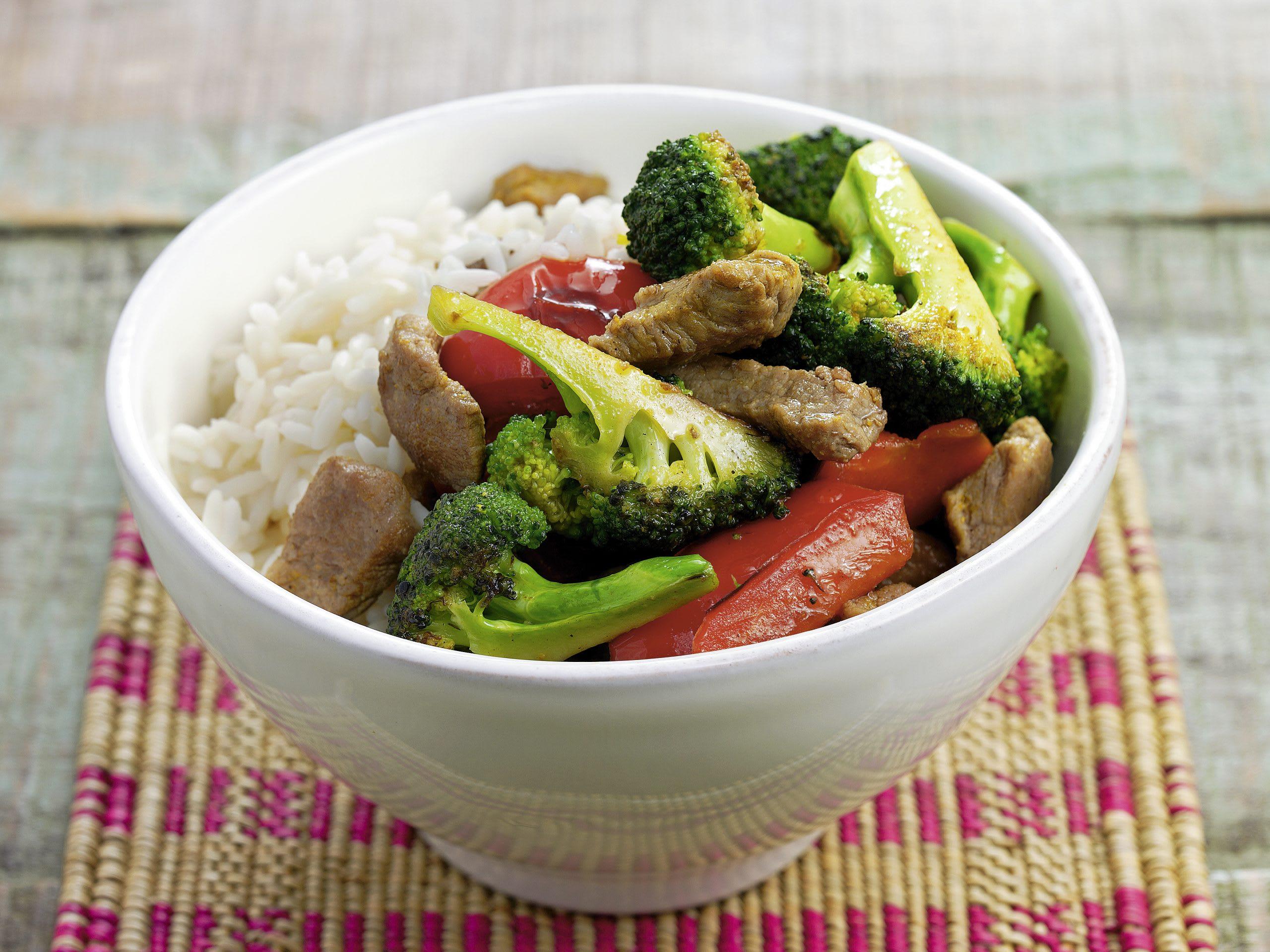 Geschnetzeltes mit Currygemüse