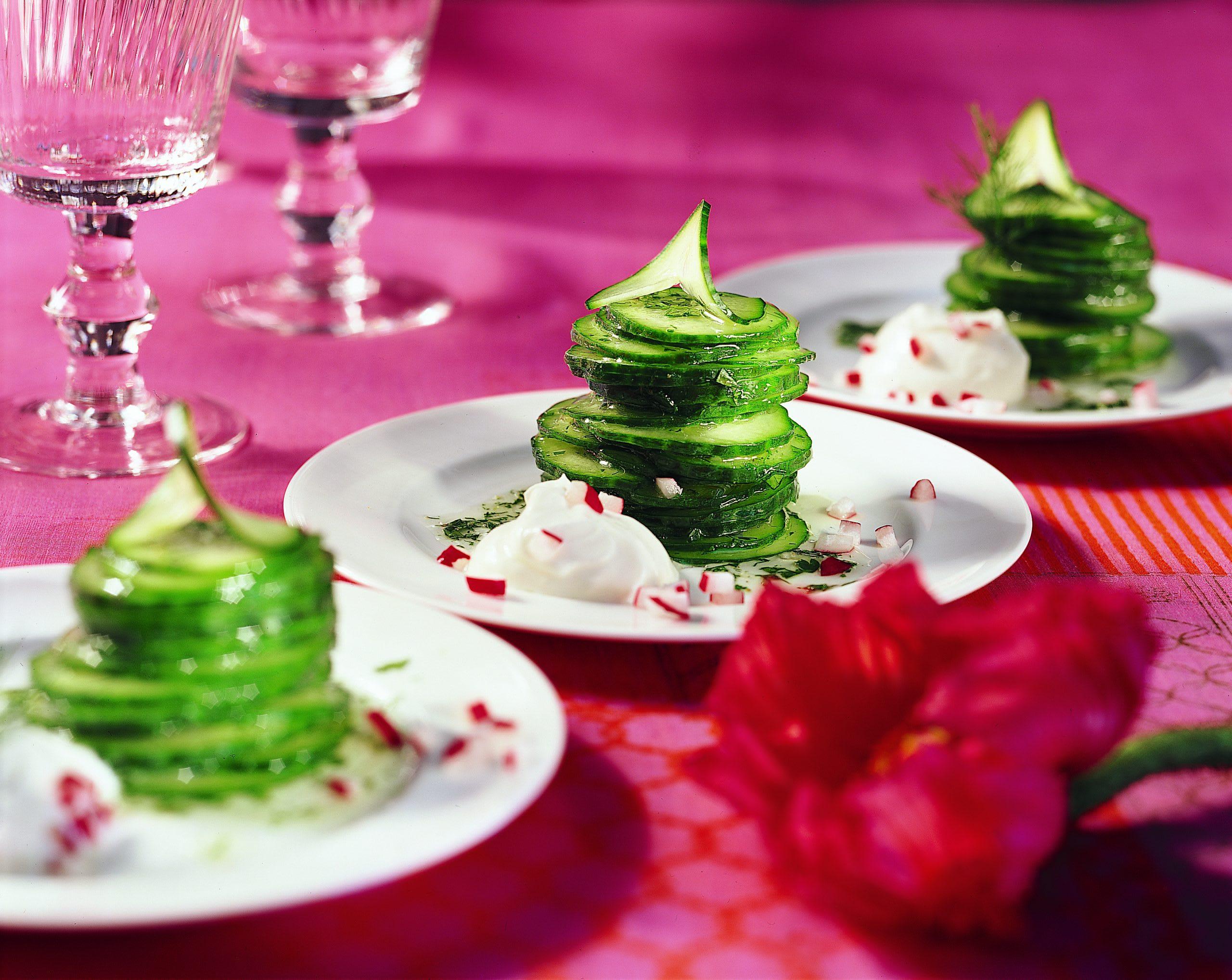 Gestürzter Gurkensalat