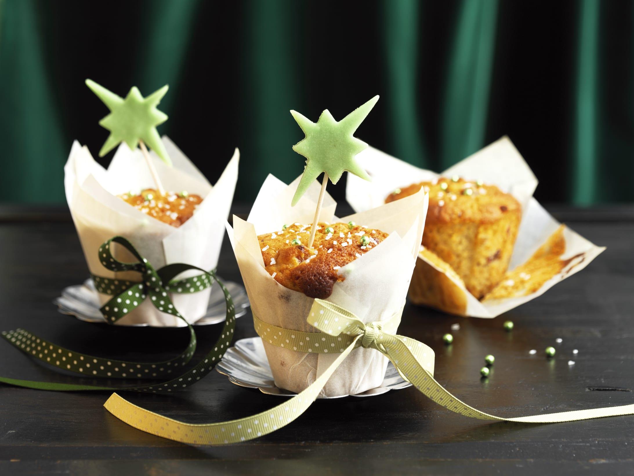 Muffins aux fruits séchés et aux épices