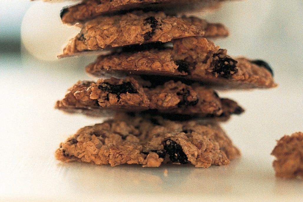 Gewürz-Haferflocken-Cookies mit Sultaninen