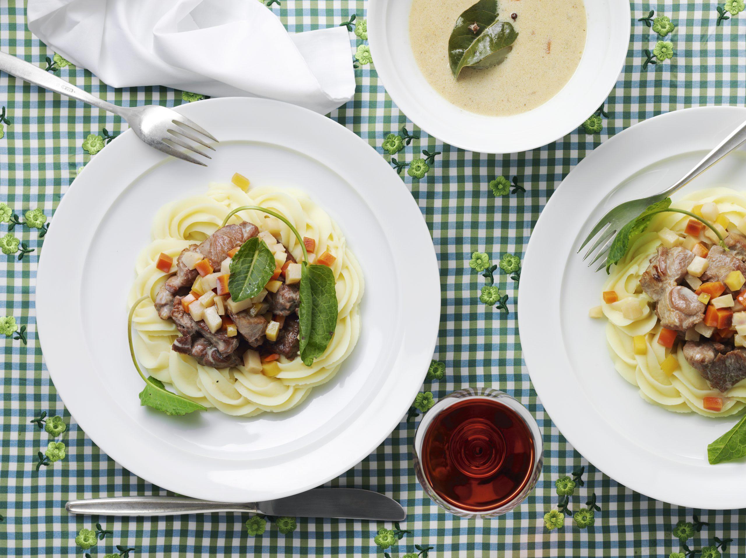 Gitzi-Voressen mit Kartoffelstock
