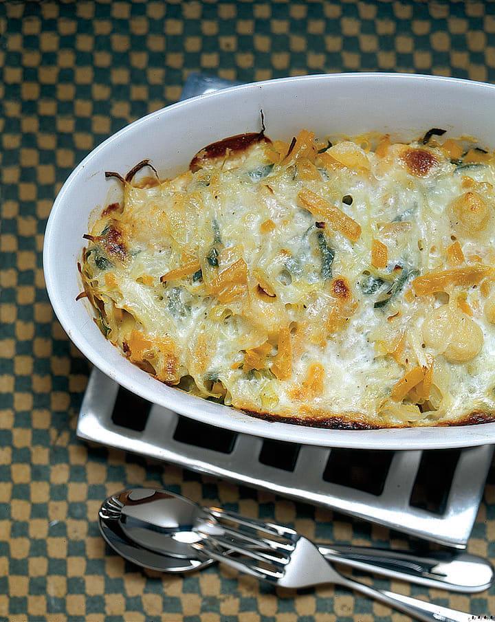 Gnocchi-Gratin mit Gemüsehaube