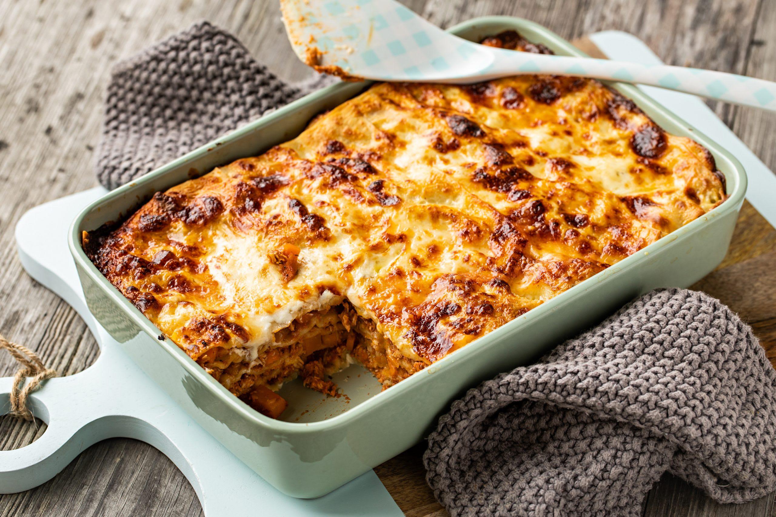 Grillfleisch-Lasagne