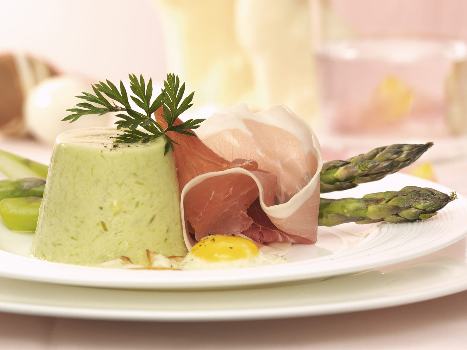 Timbales d'asperges vertes