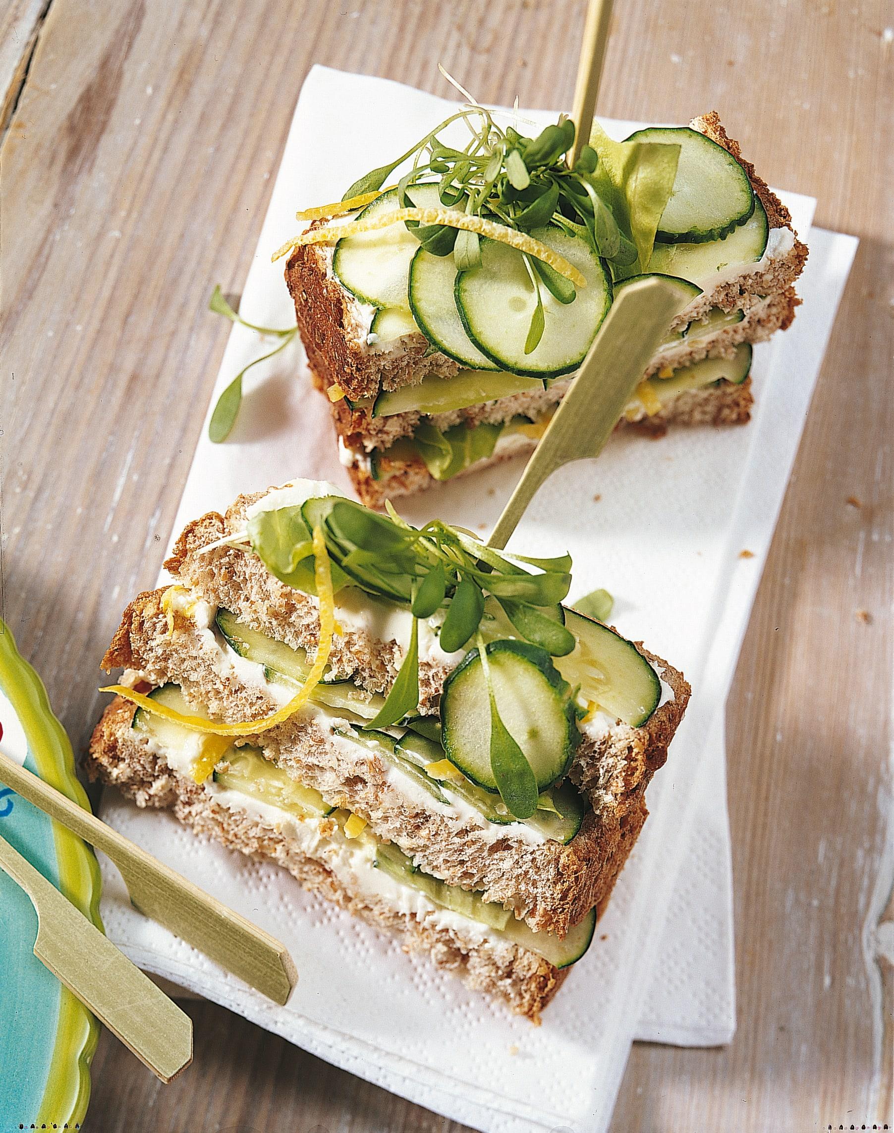 Sandwiches au concombre